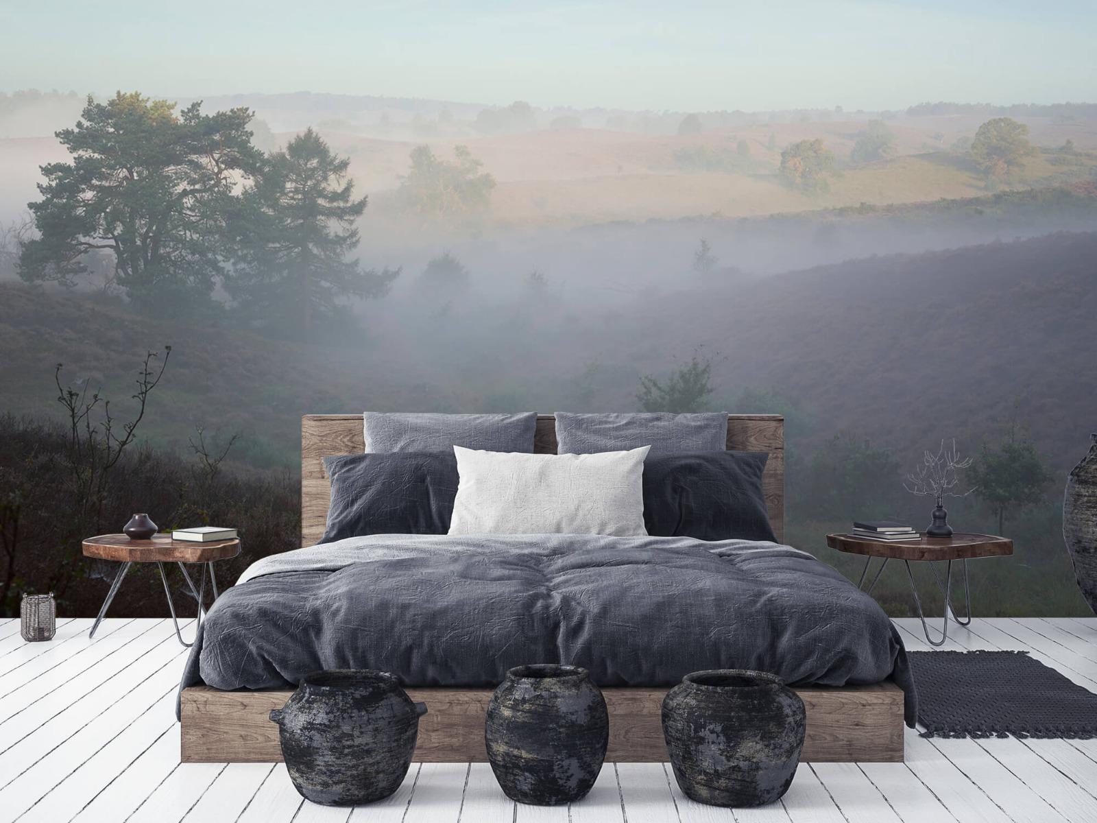 Landschap - Mist op de hei - Slaapkamer 5