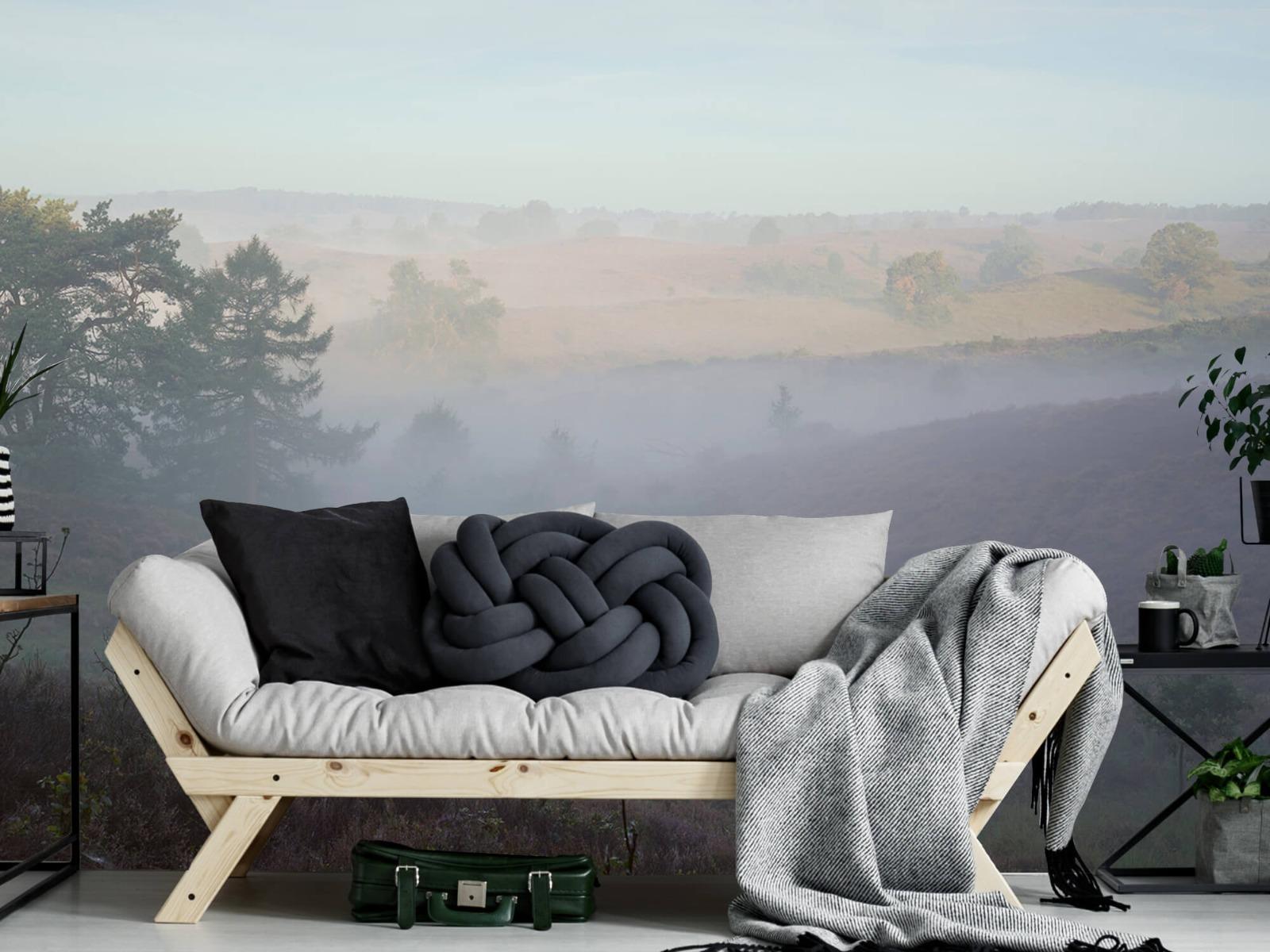 Landschap - Mist op de hei - Slaapkamer 6