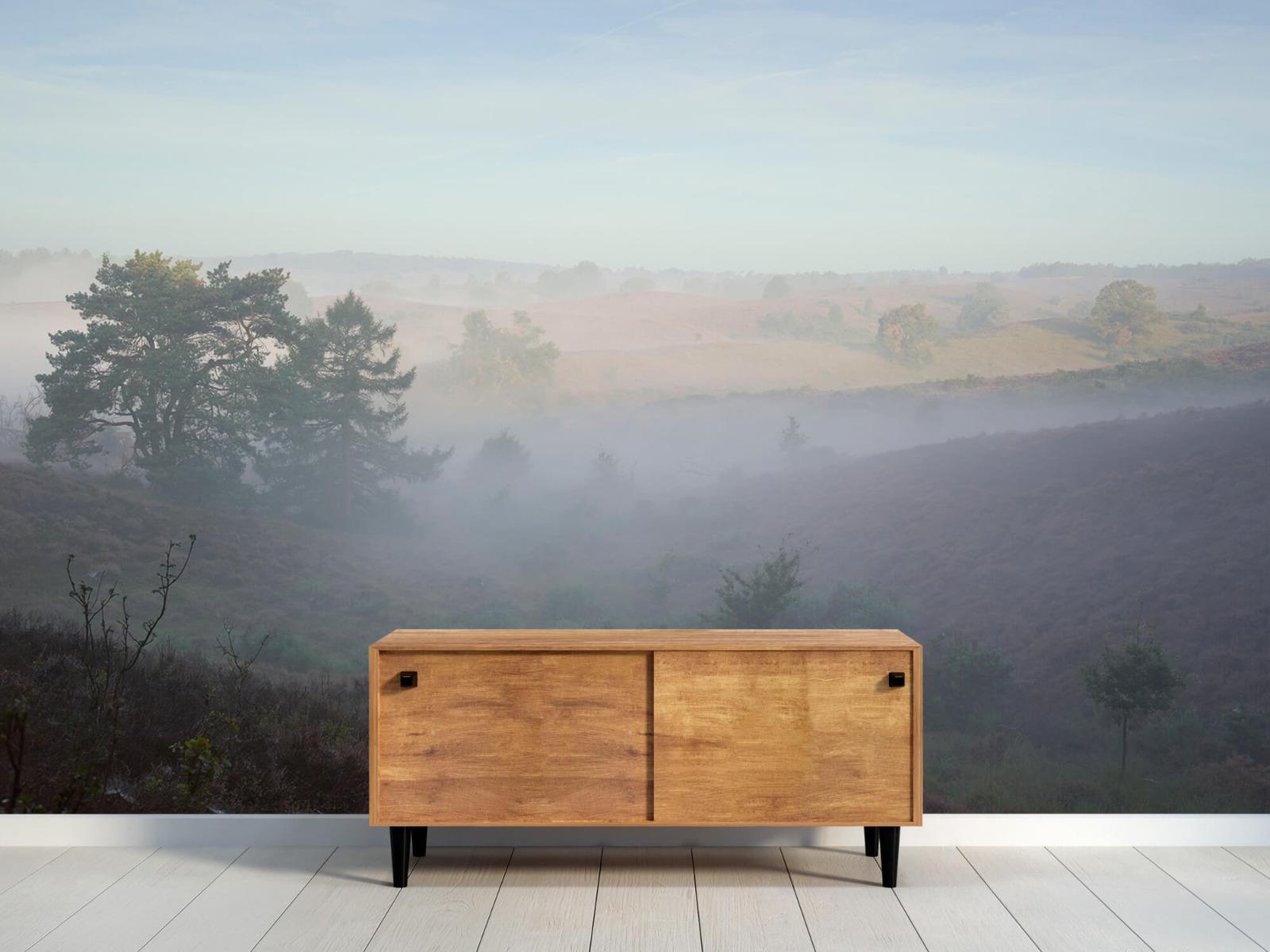 Landschap - Mist op de hei - Slaapkamer 9