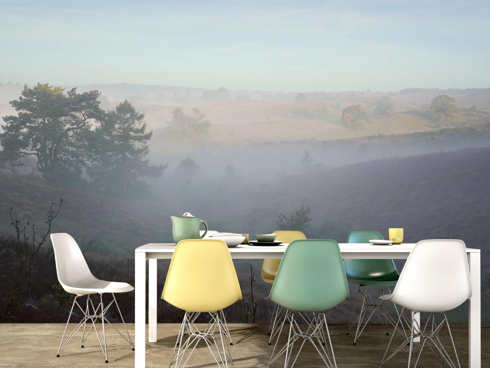 Landschap - Mist op de hei - Slaapkamer 15