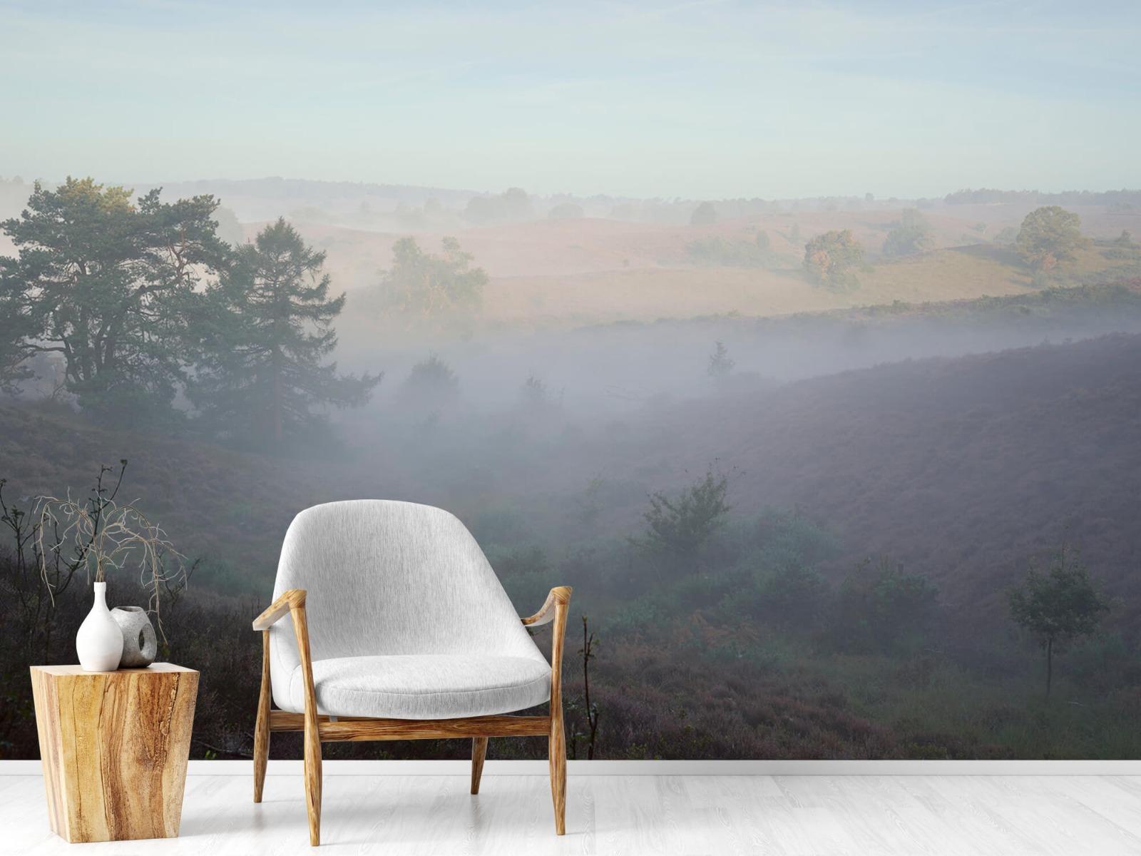 Landschap - Mist op de hei - Slaapkamer 18