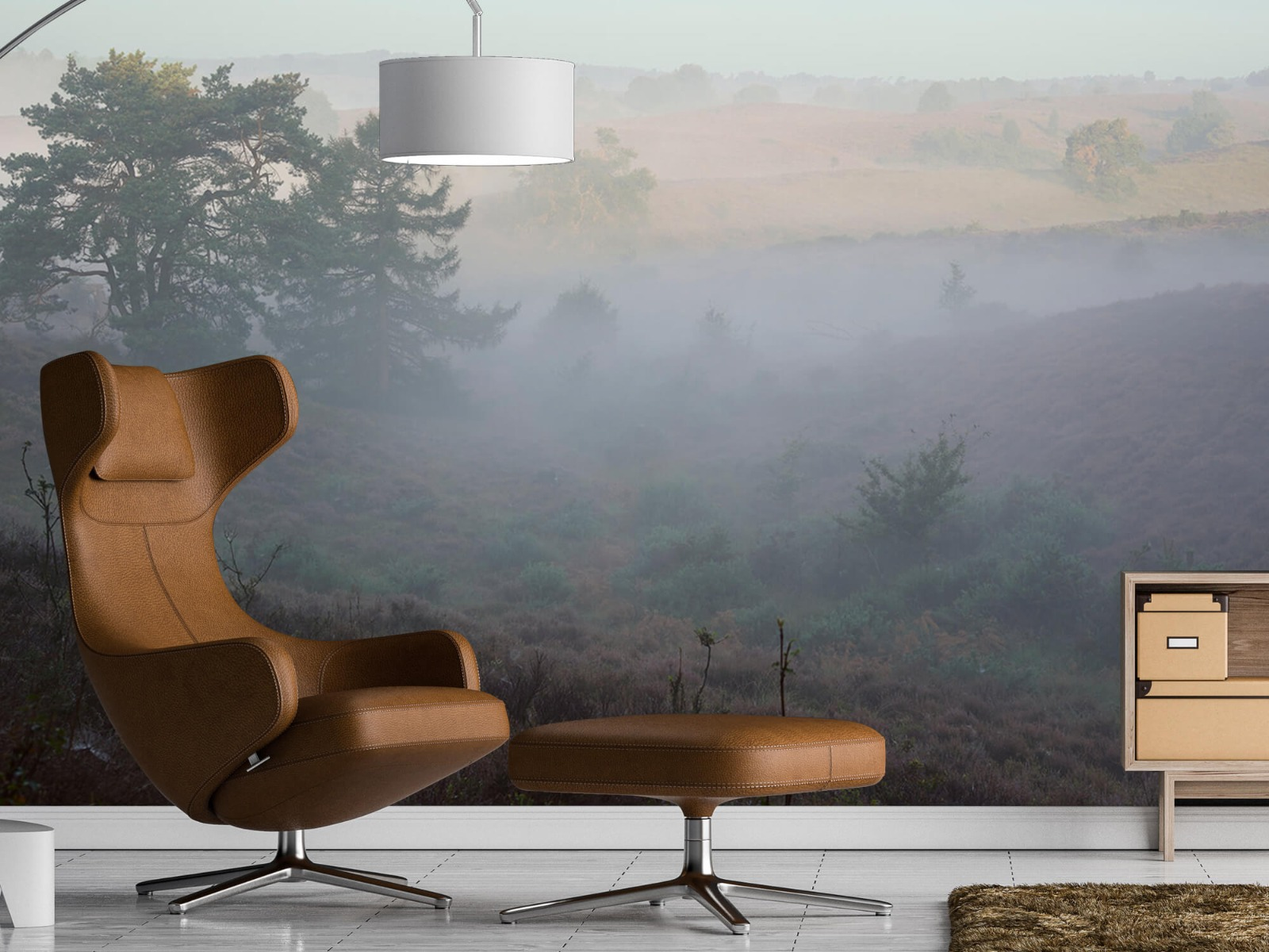 Landschap - Mist op de hei - Slaapkamer 19