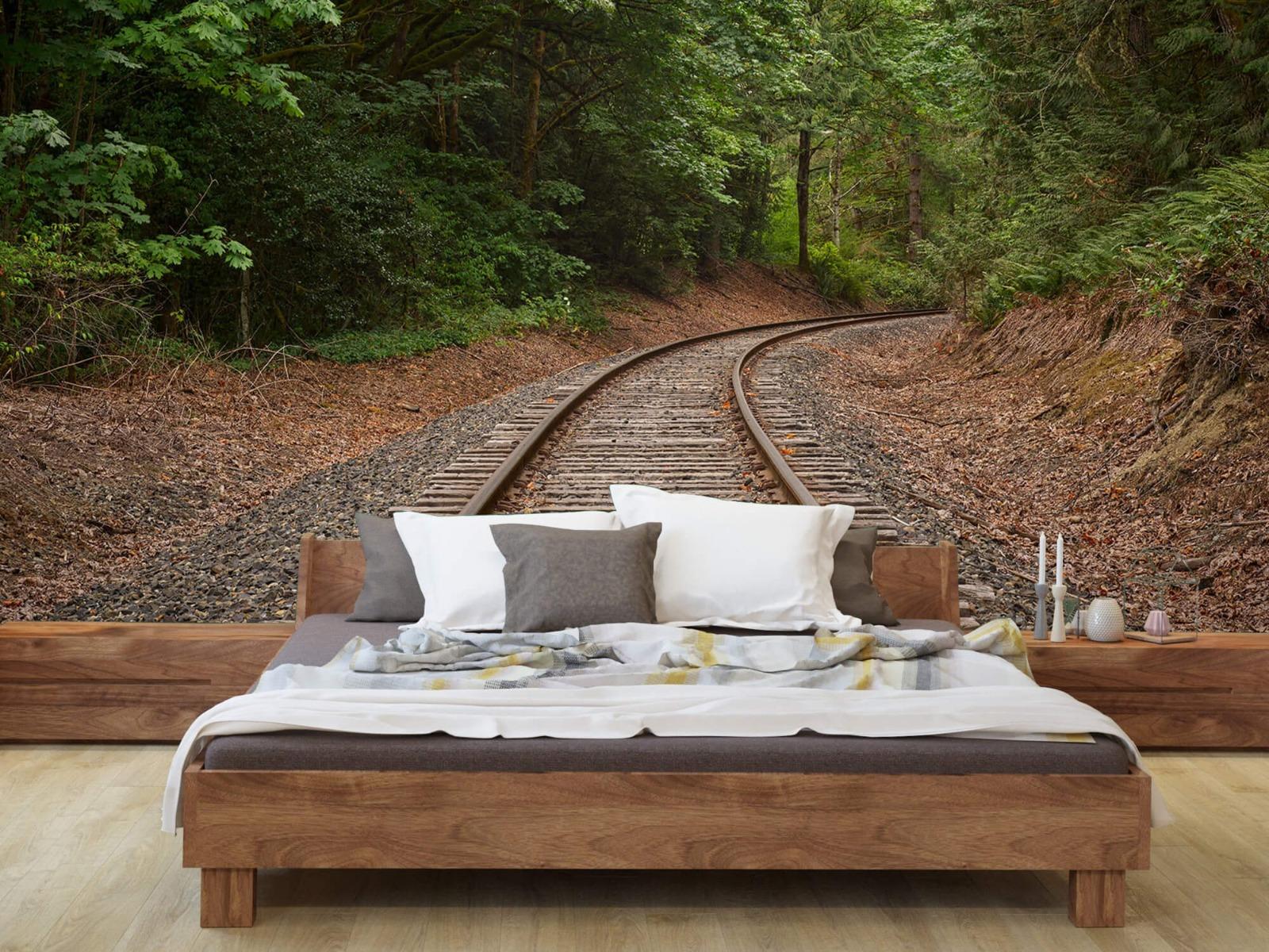 Bos behang - Spoorlijn door het bos - Slaapkamer 2
