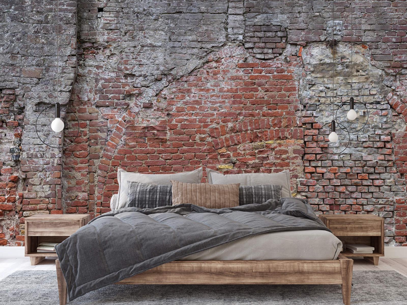 Steen behang - Oude herstelde stadsmuur - Tienerkamer 3