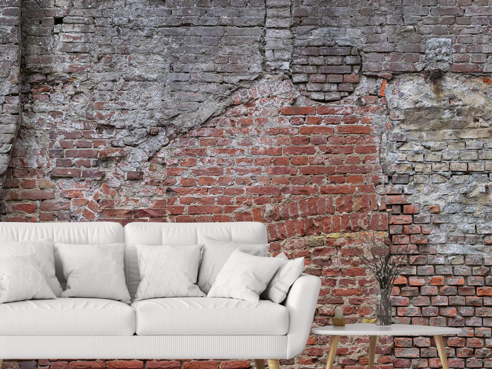 Steen behang - Oude herstelde stadsmuur - Tienerkamer 4