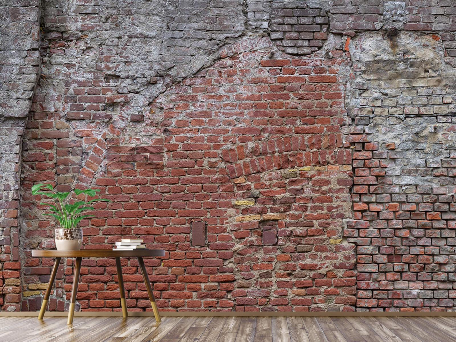 Steen behang - Oude herstelde stadsmuur - Tienerkamer 5