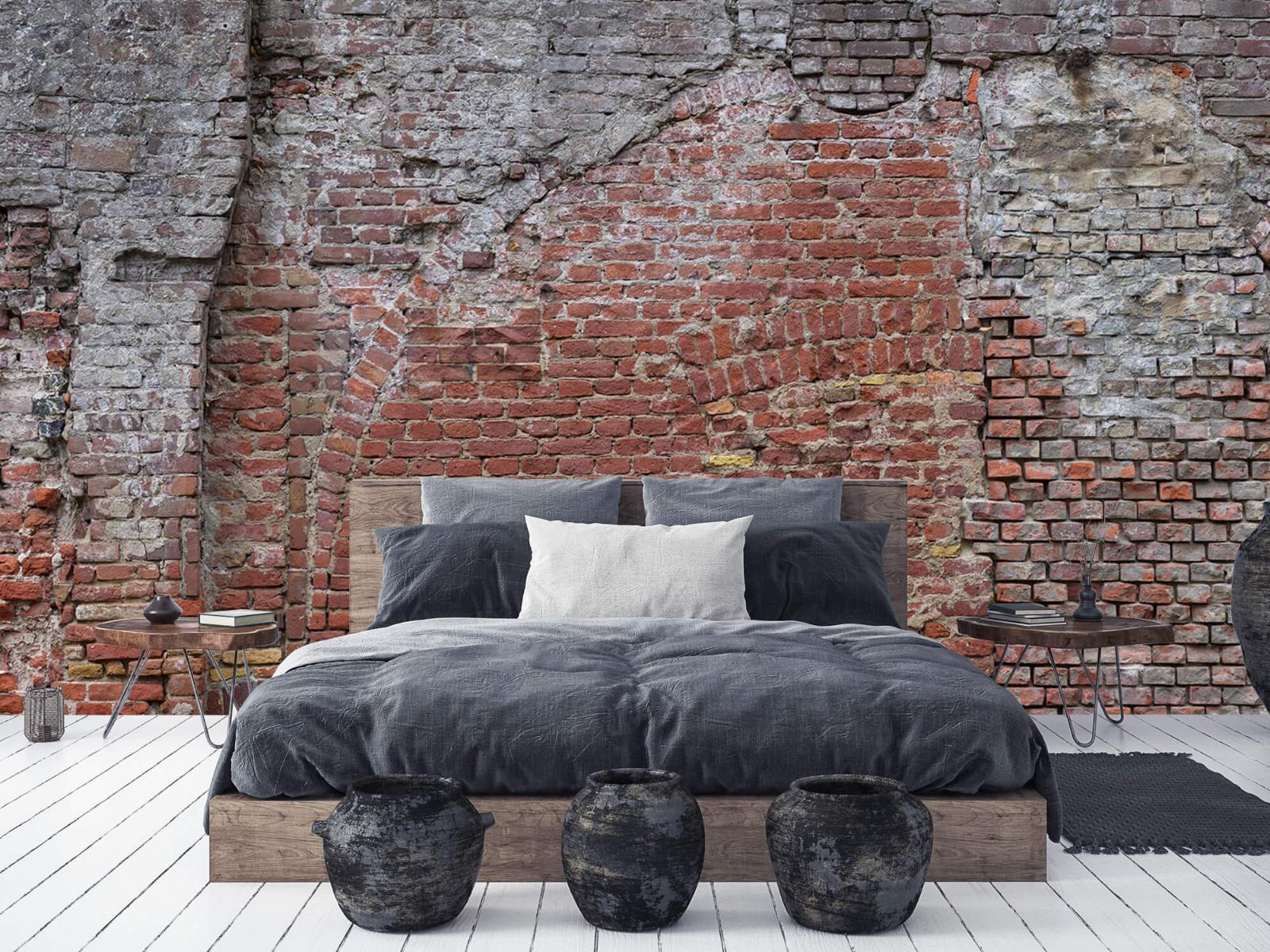 Steen behang - Oude herstelde stadsmuur - Tienerkamer 2