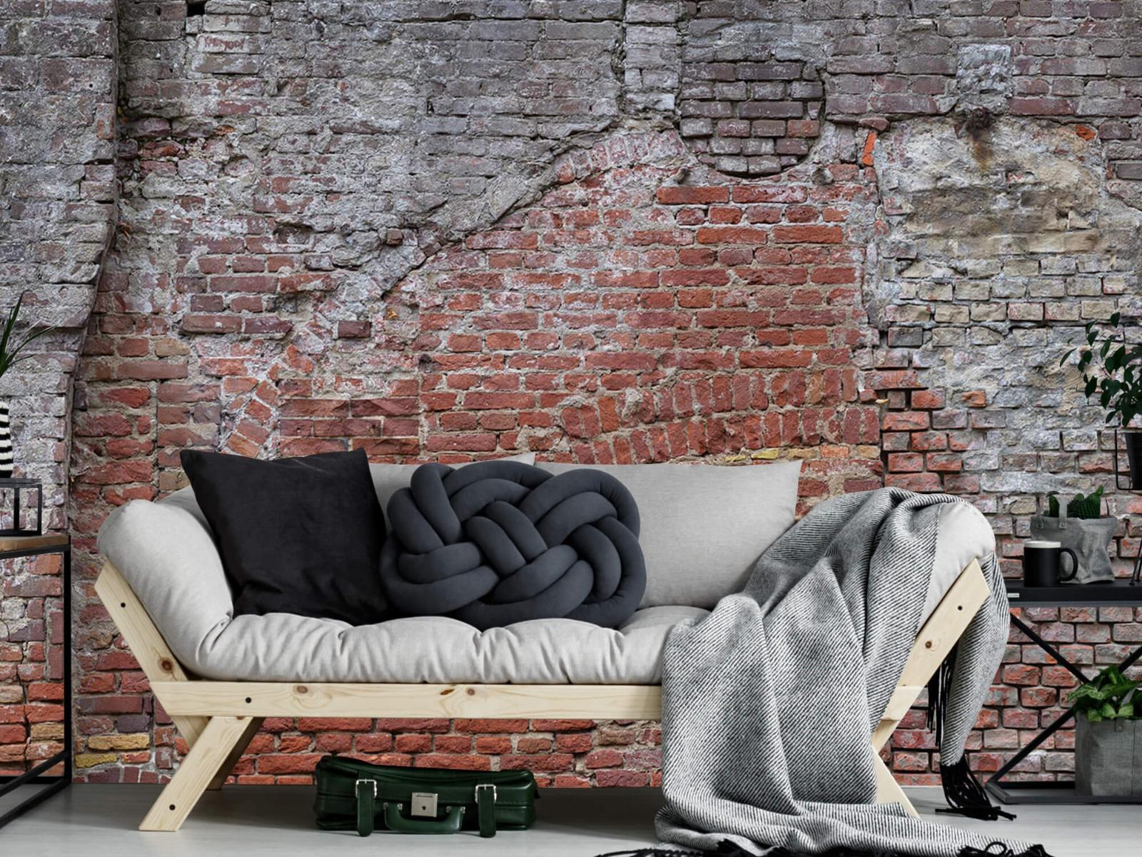 Steen behang - Oude herstelde stadsmuur - Tienerkamer 6