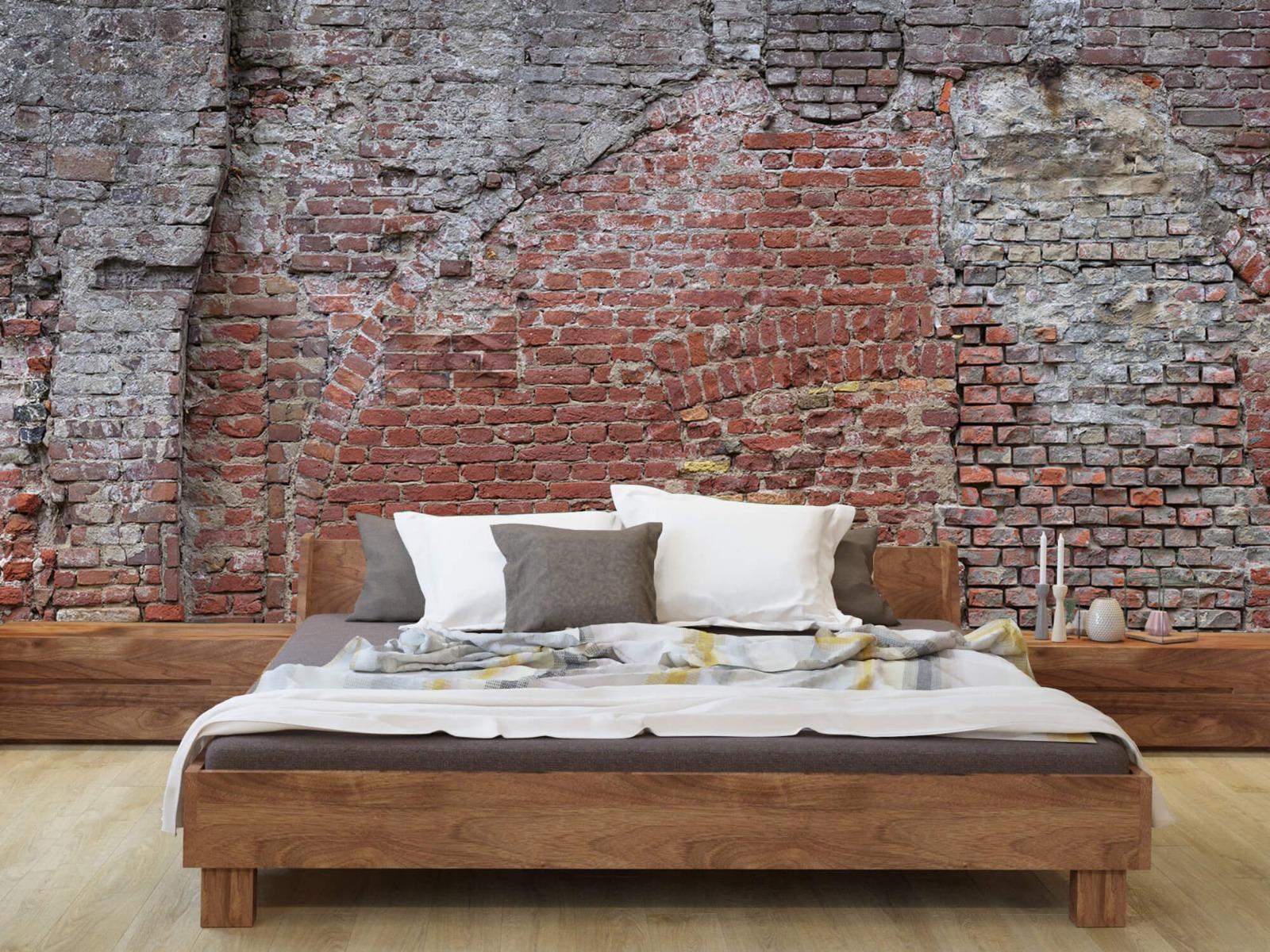 Steen behang - Oude herstelde stadsmuur - Tienerkamer 7