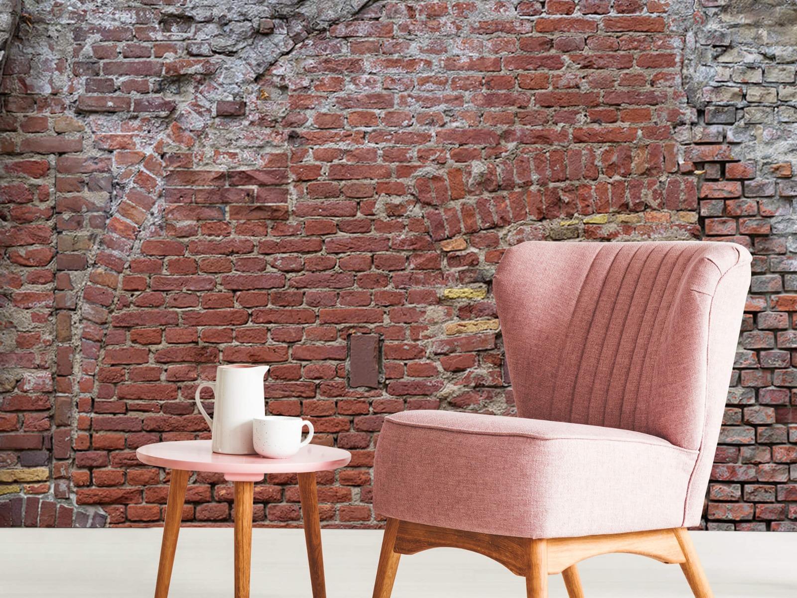 Steen behang - Oude herstelde stadsmuur - Tienerkamer 8