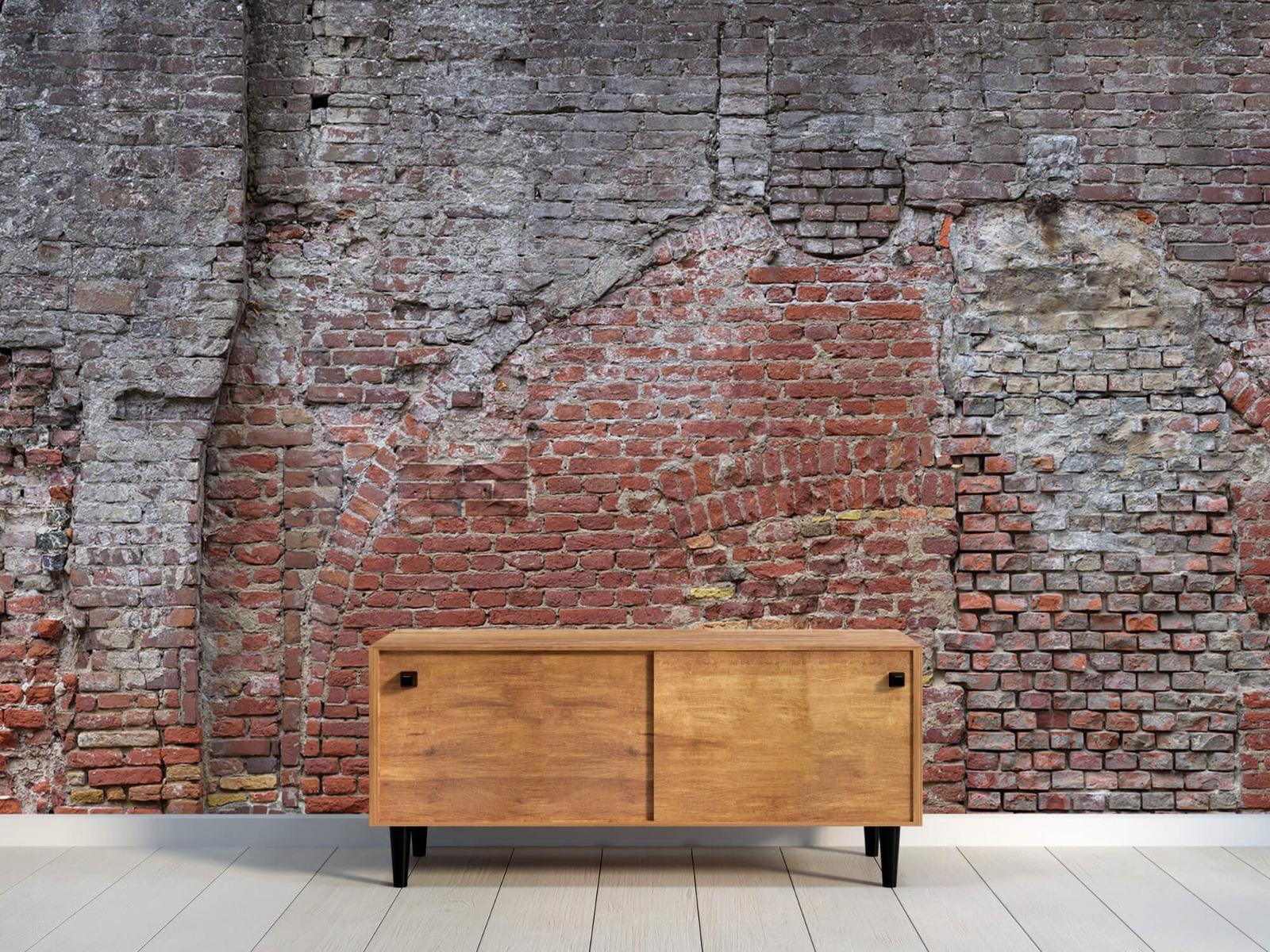 Steen behang - Oude herstelde stadsmuur - Tienerkamer 9