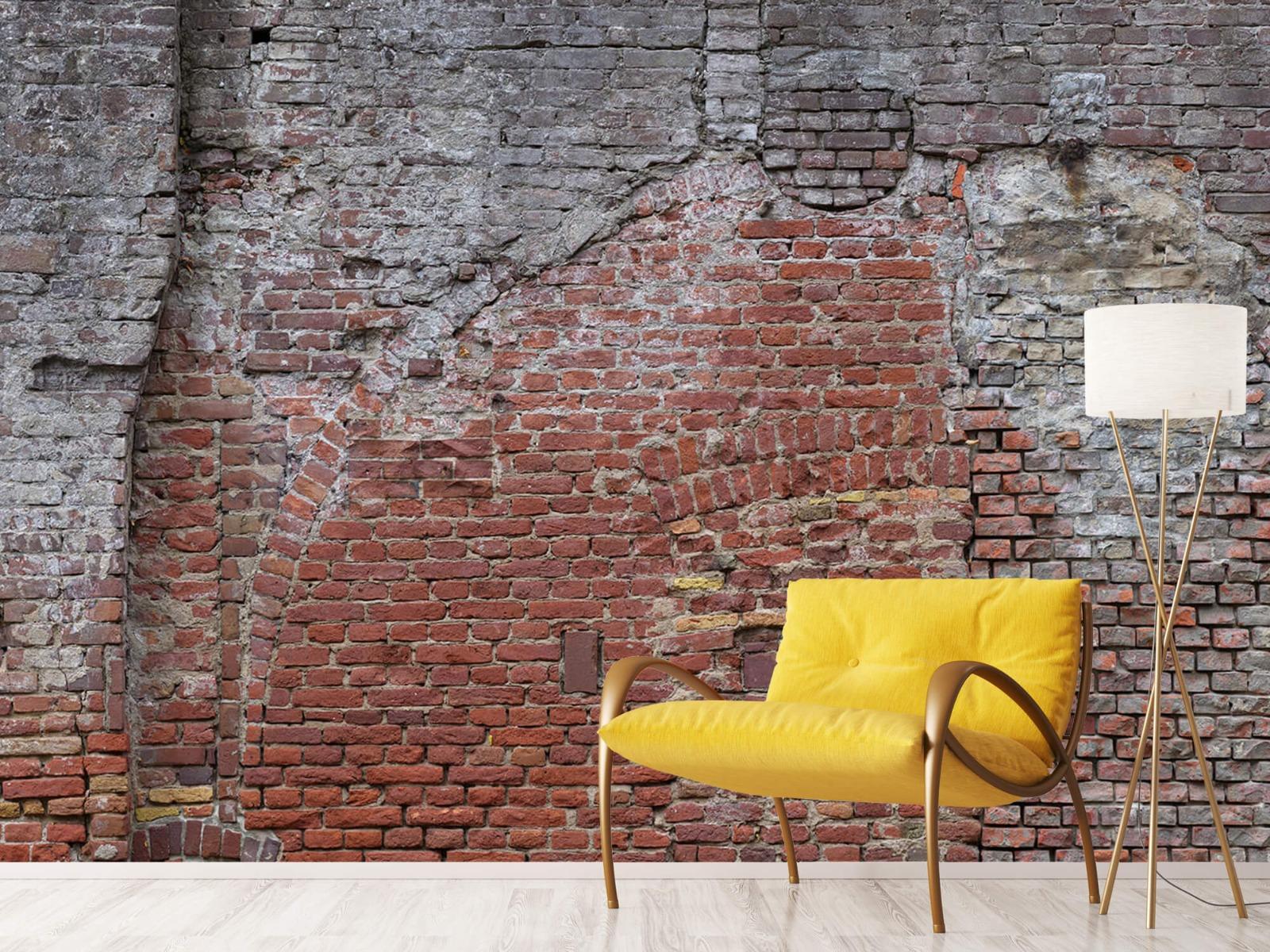 Steen behang - Oude herstelde stadsmuur - Tienerkamer 10