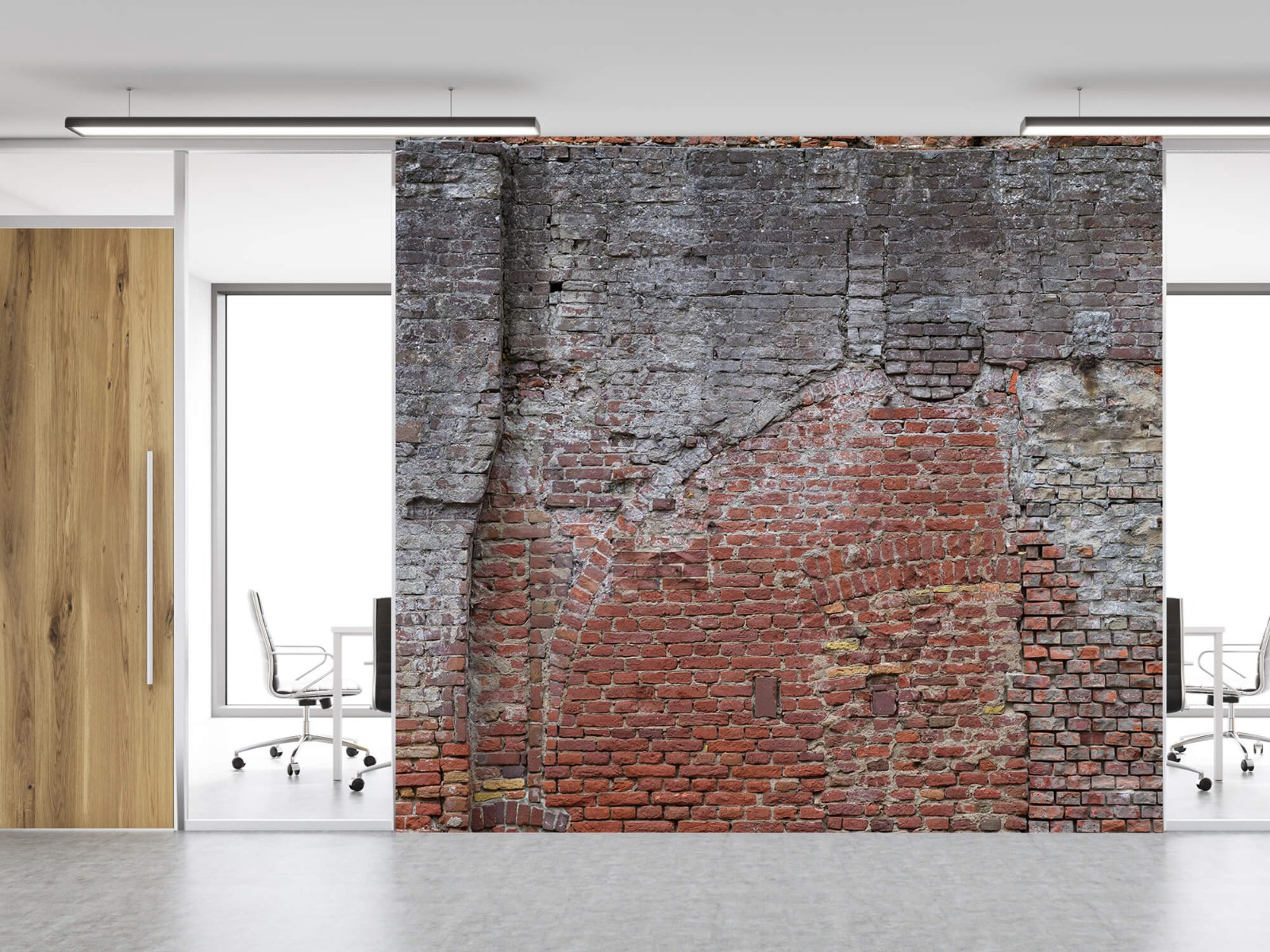 Steen behang - Oude herstelde stadsmuur - Tienerkamer 11