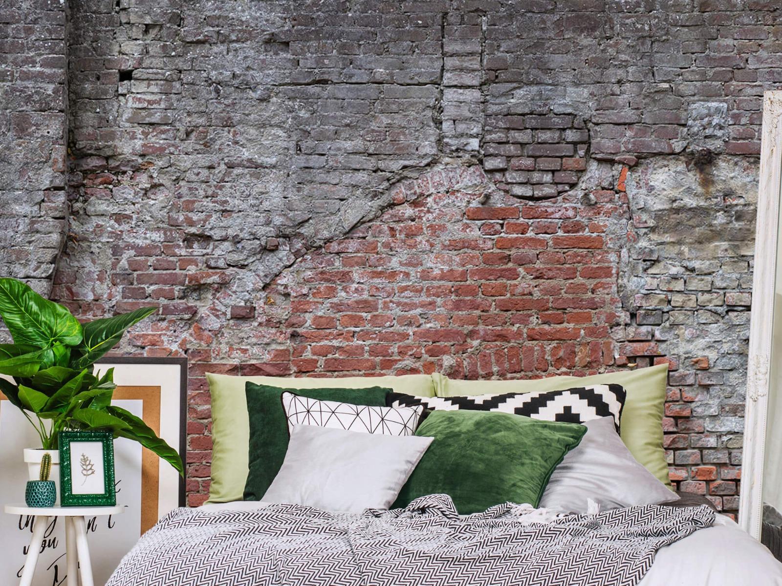 Steen behang - Oude herstelde stadsmuur - Tienerkamer 12
