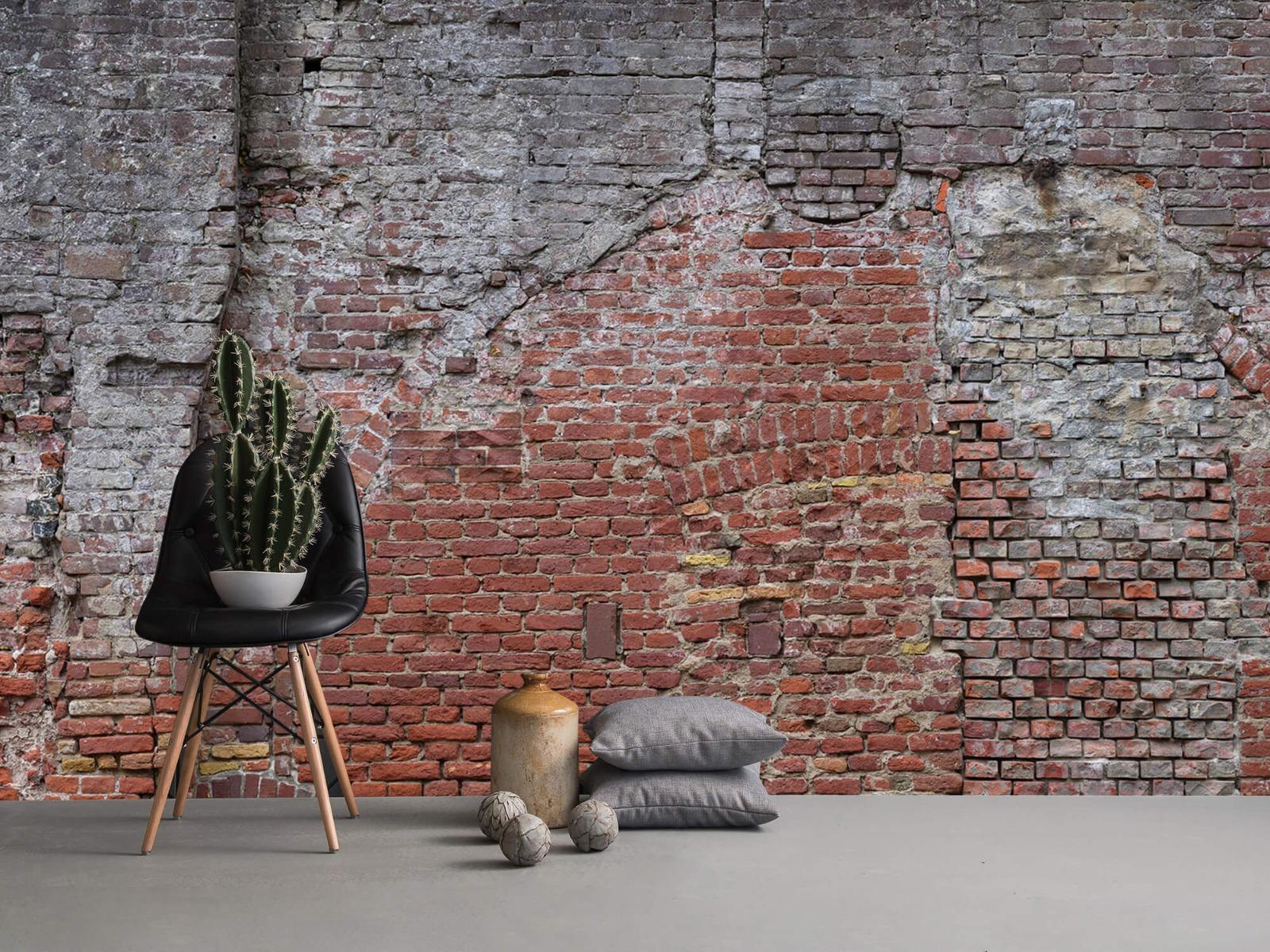 Steen behang - Oude herstelde stadsmuur - Tienerkamer 13