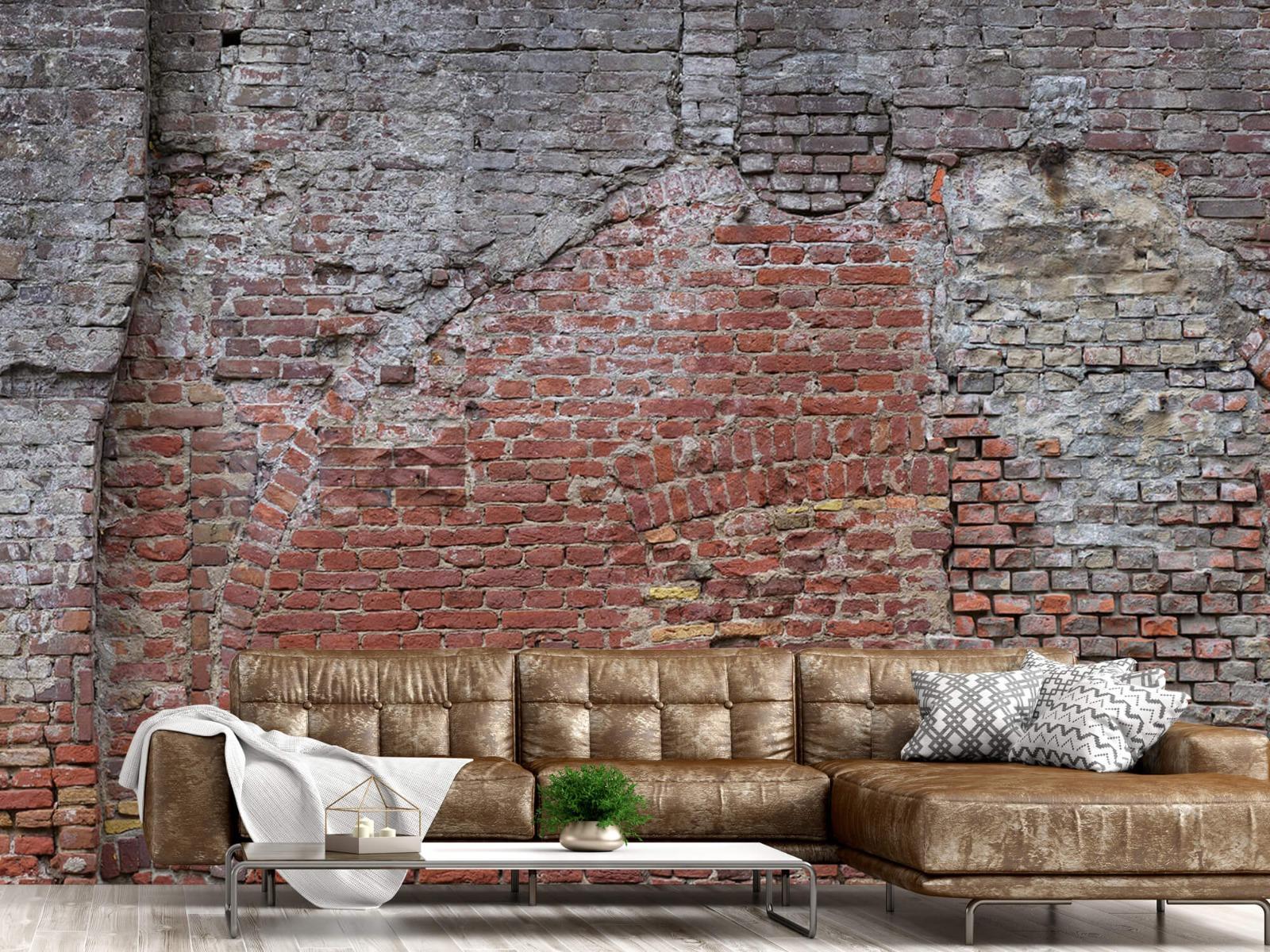 Steen behang - Oude herstelde stadsmuur - Tienerkamer 14