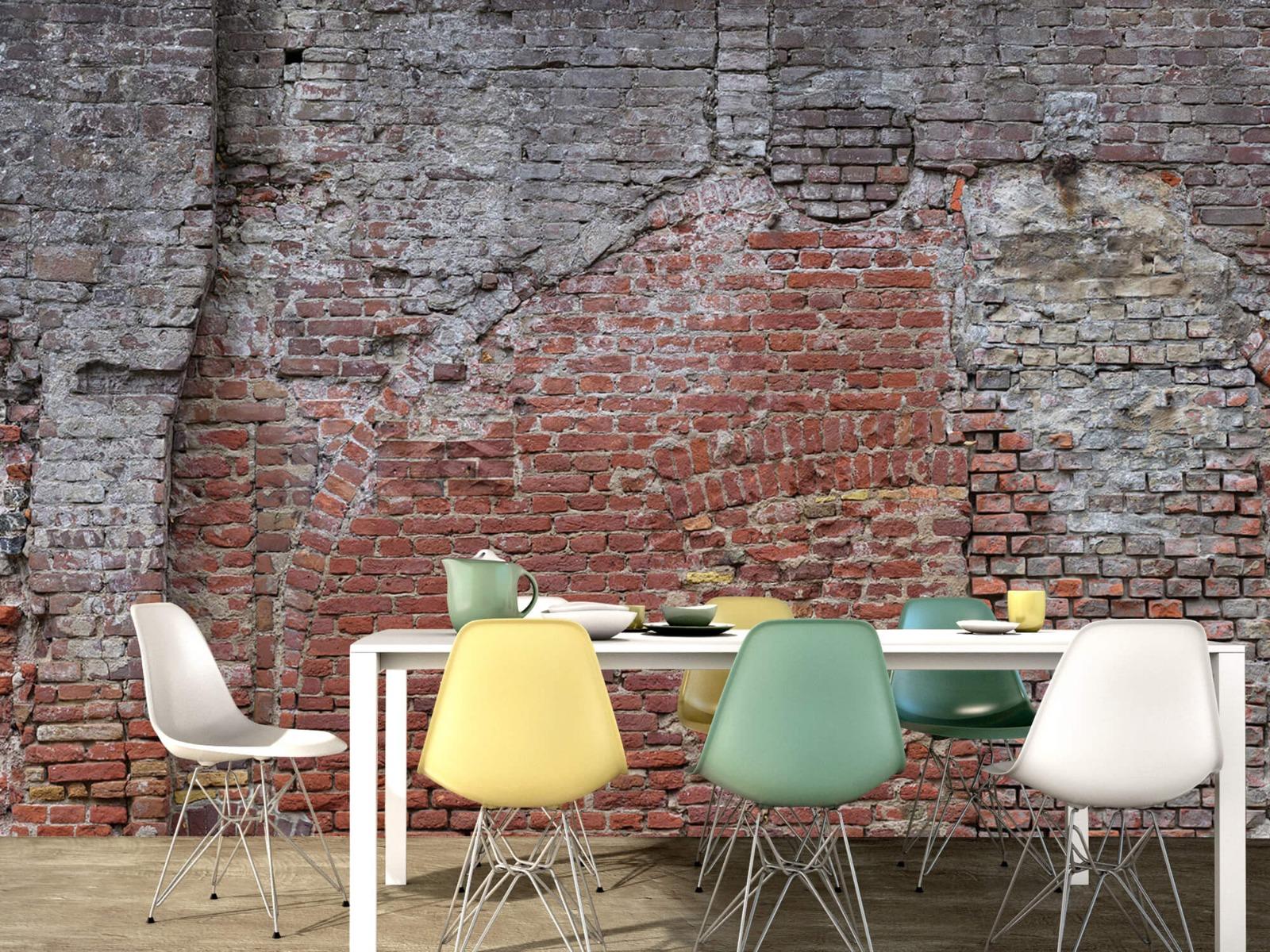 Steen behang - Oude herstelde stadsmuur - Tienerkamer 15
