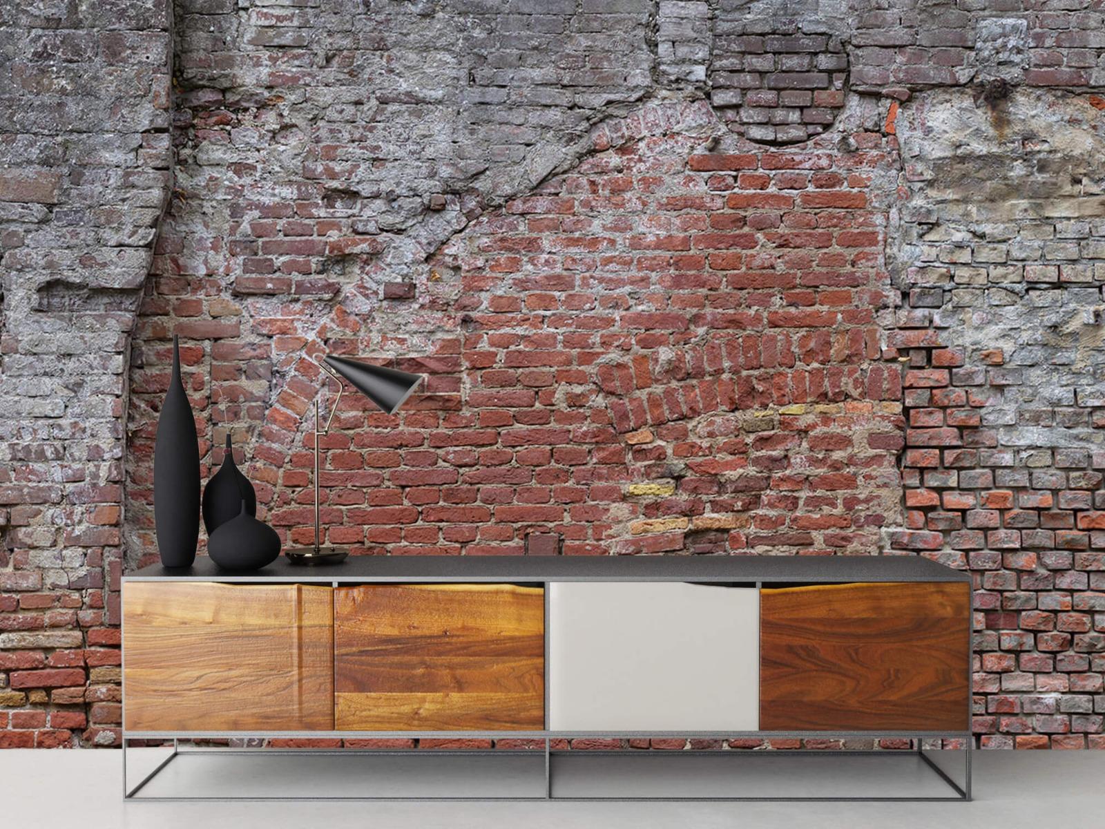 Steen behang - Oude herstelde stadsmuur - Tienerkamer 16