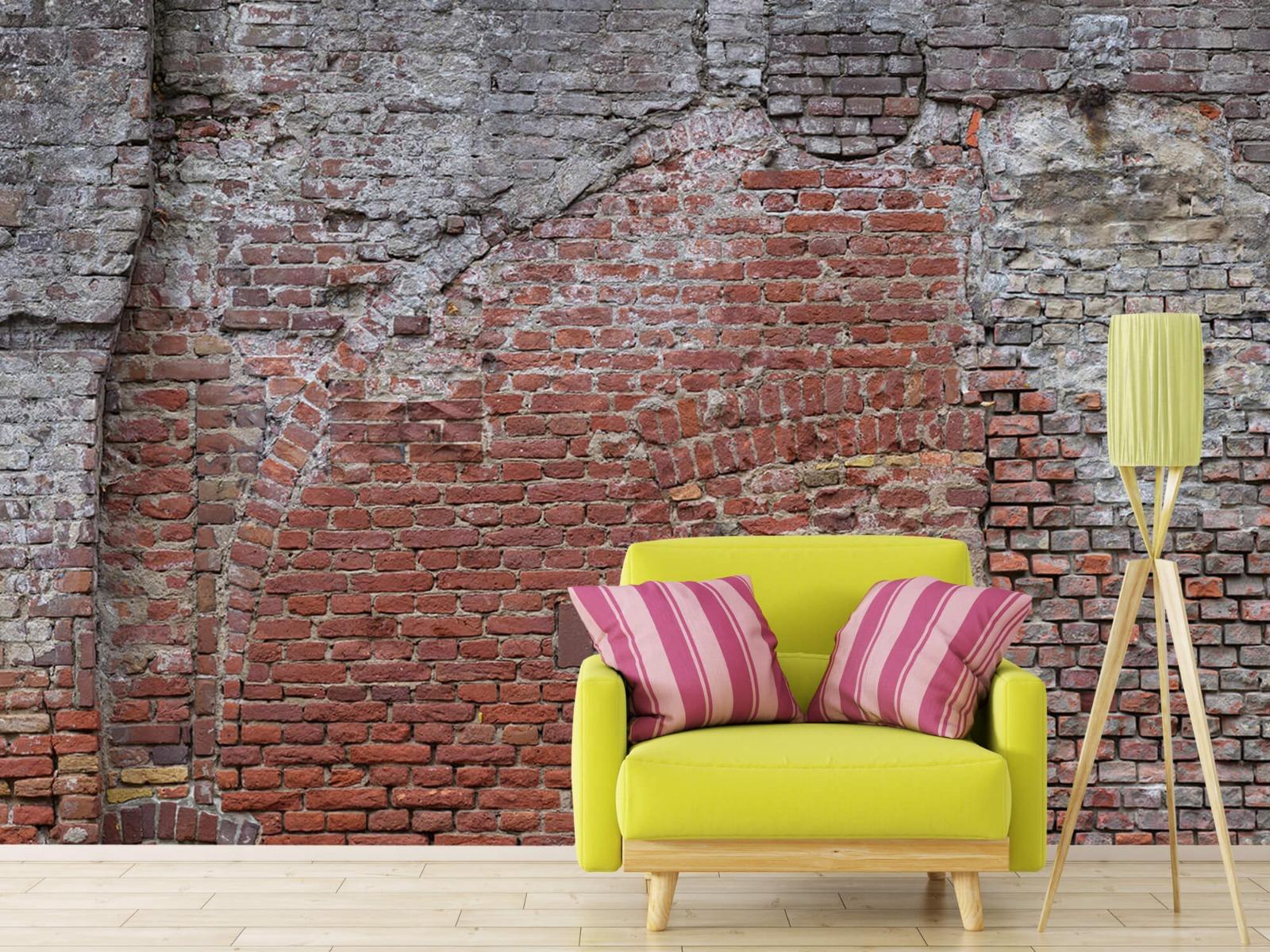 Steen behang - Oude herstelde stadsmuur - Tienerkamer 17