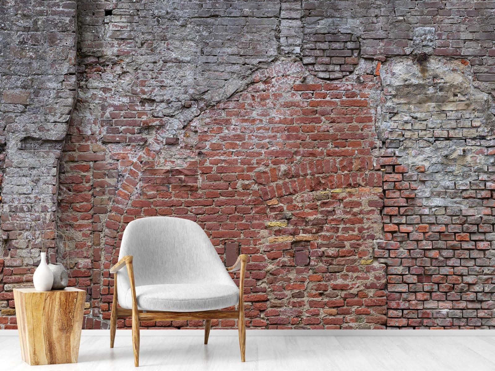 Steen behang - Oude herstelde stadsmuur - Tienerkamer 18