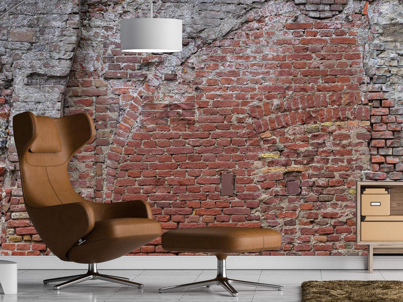 Steen behang - Oude herstelde stadsmuur - Tienerkamer 19
