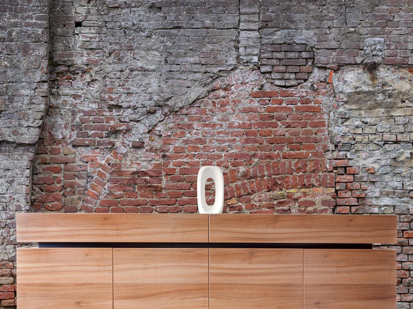 Steen behang - Oude herstelde stadsmuur - Tienerkamer 20
