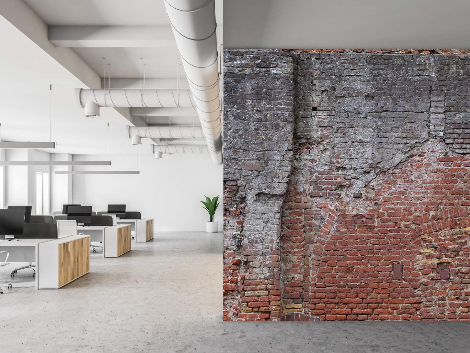 Steen behang - Oude herstelde stadsmuur - Tienerkamer 21
