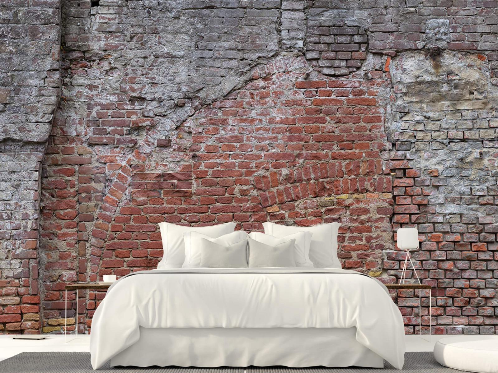 Steen behang - Oude herstelde stadsmuur - Tienerkamer 22