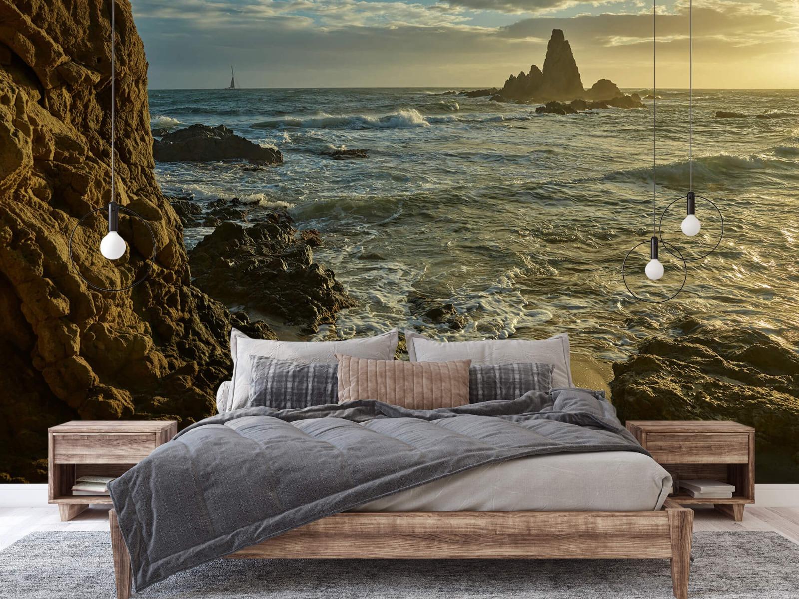 Landschap - Rotsen voor de kust - Slaapkamer 1