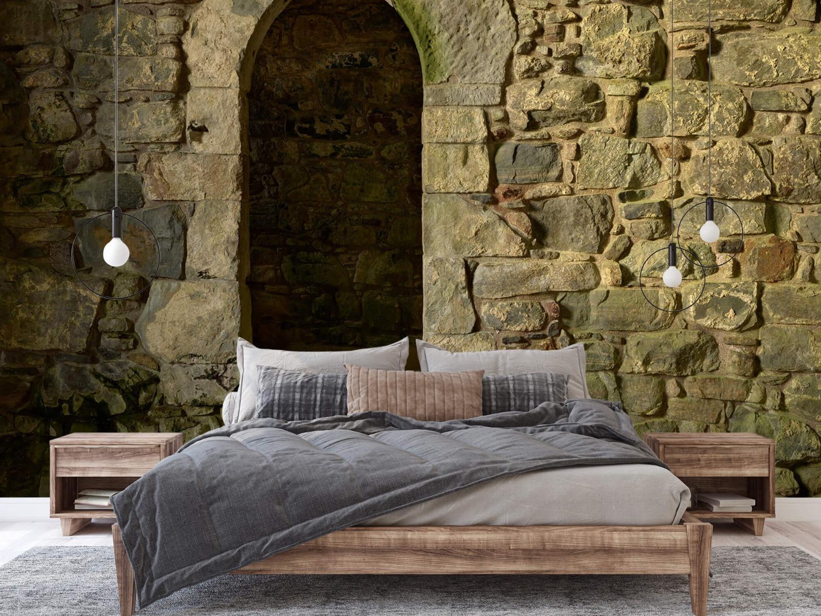 Steen behang - Oude muur met doorgang - Slaapkamer 2