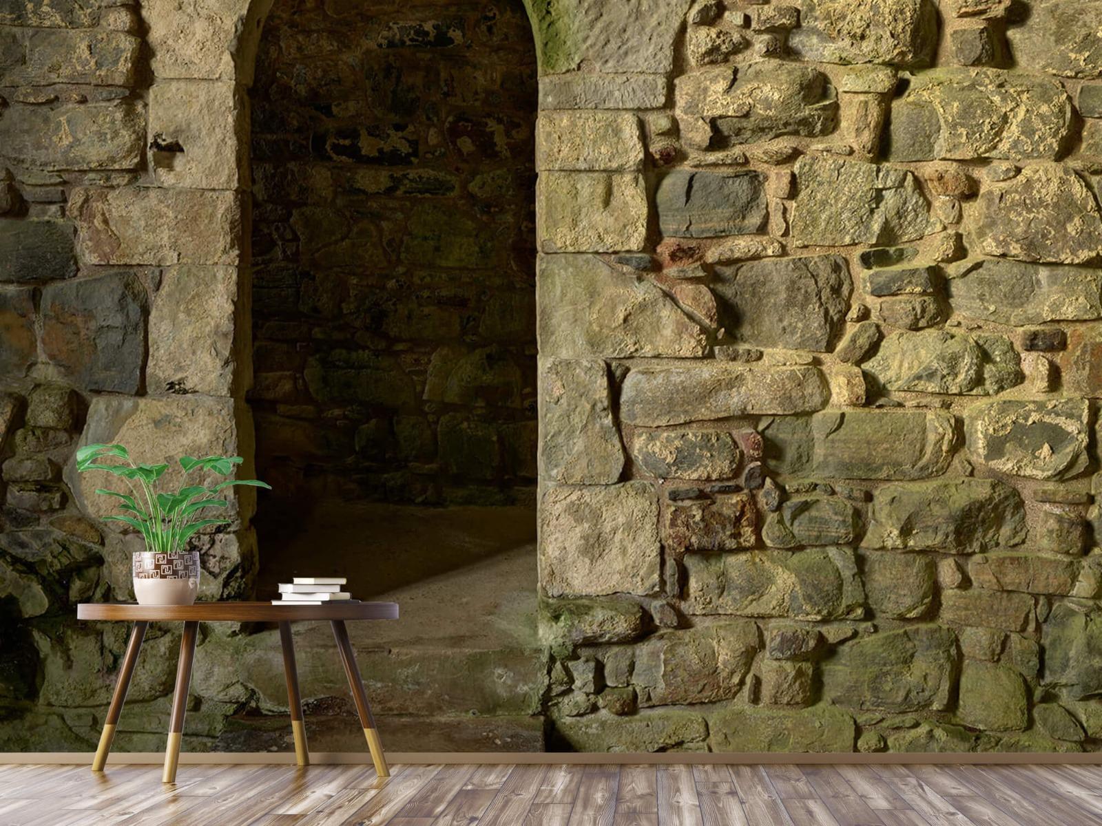 Steen behang - Oude muur met doorgang - Slaapkamer 4