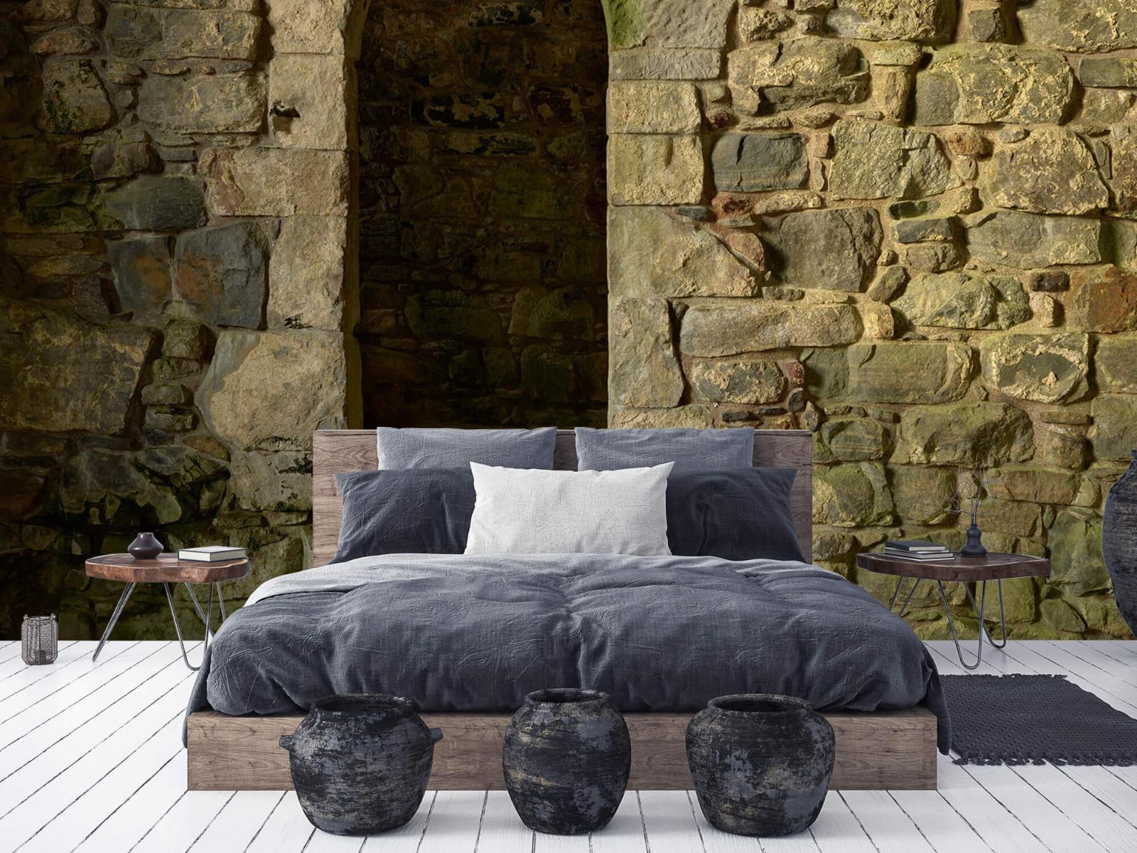 Steen behang - Oude muur met doorgang - Slaapkamer 6