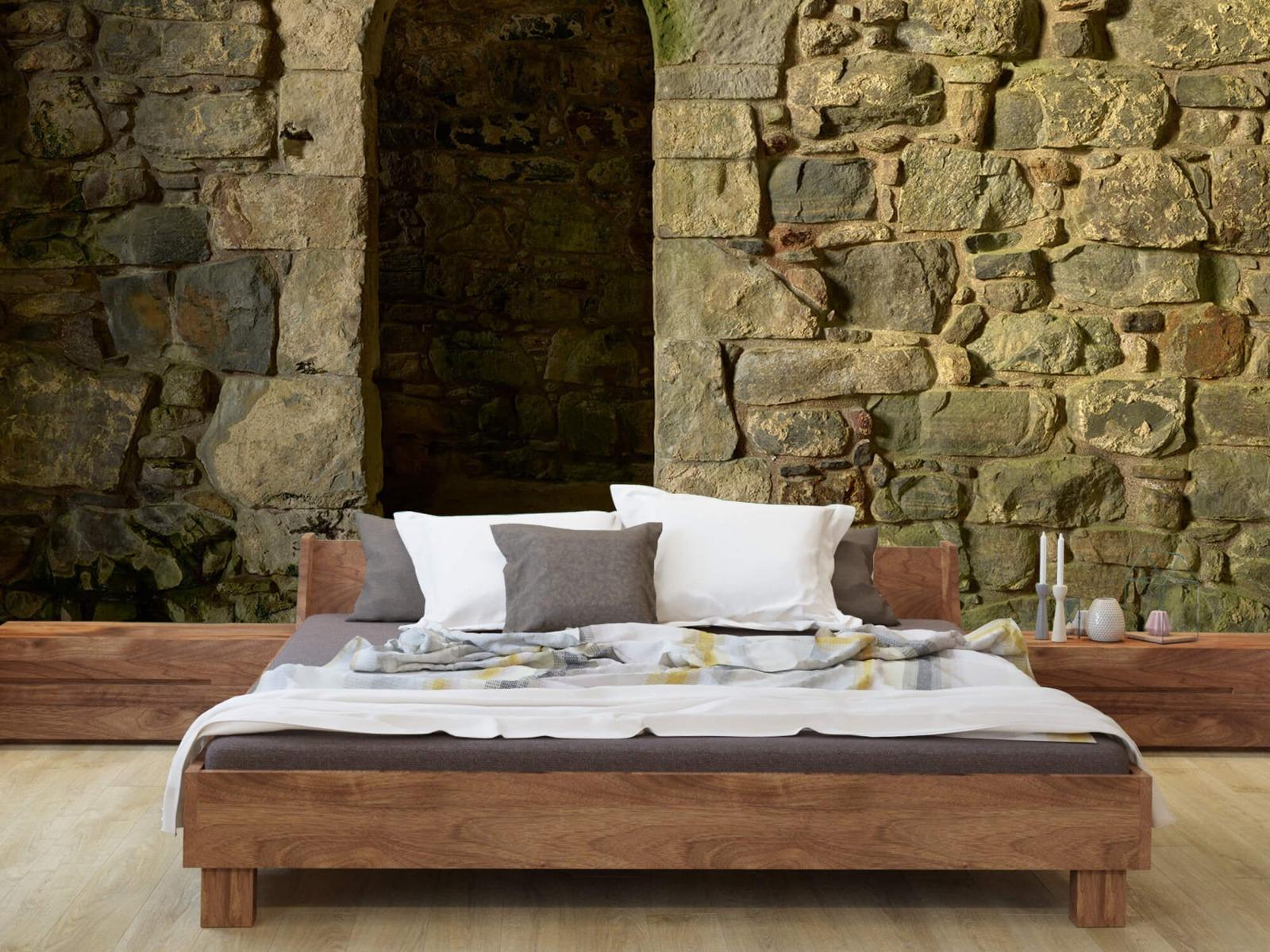 Steen behang - Oude muur met doorgang - Slaapkamer 8