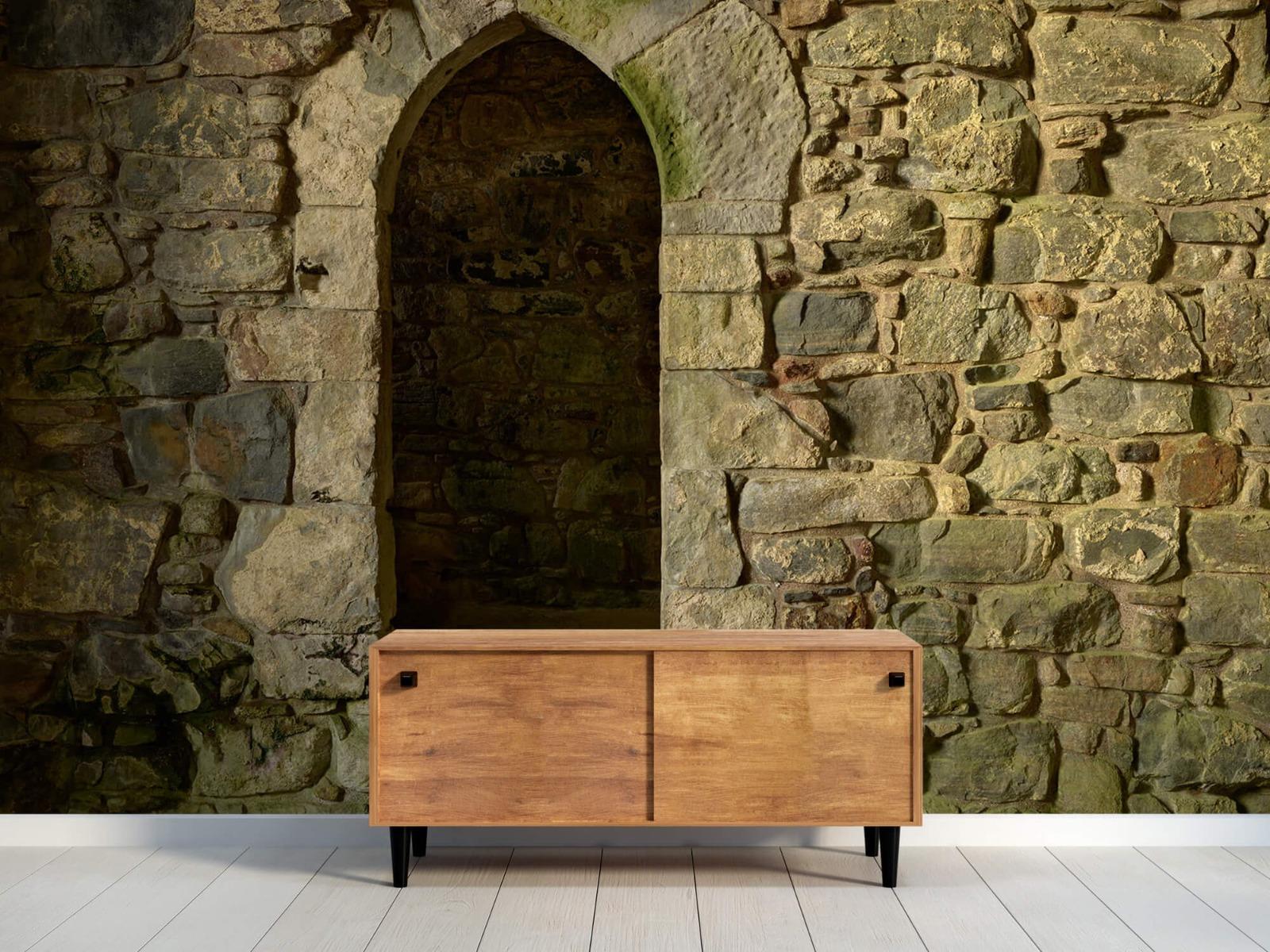 Steen behang - Oude muur met doorgang - Slaapkamer 10