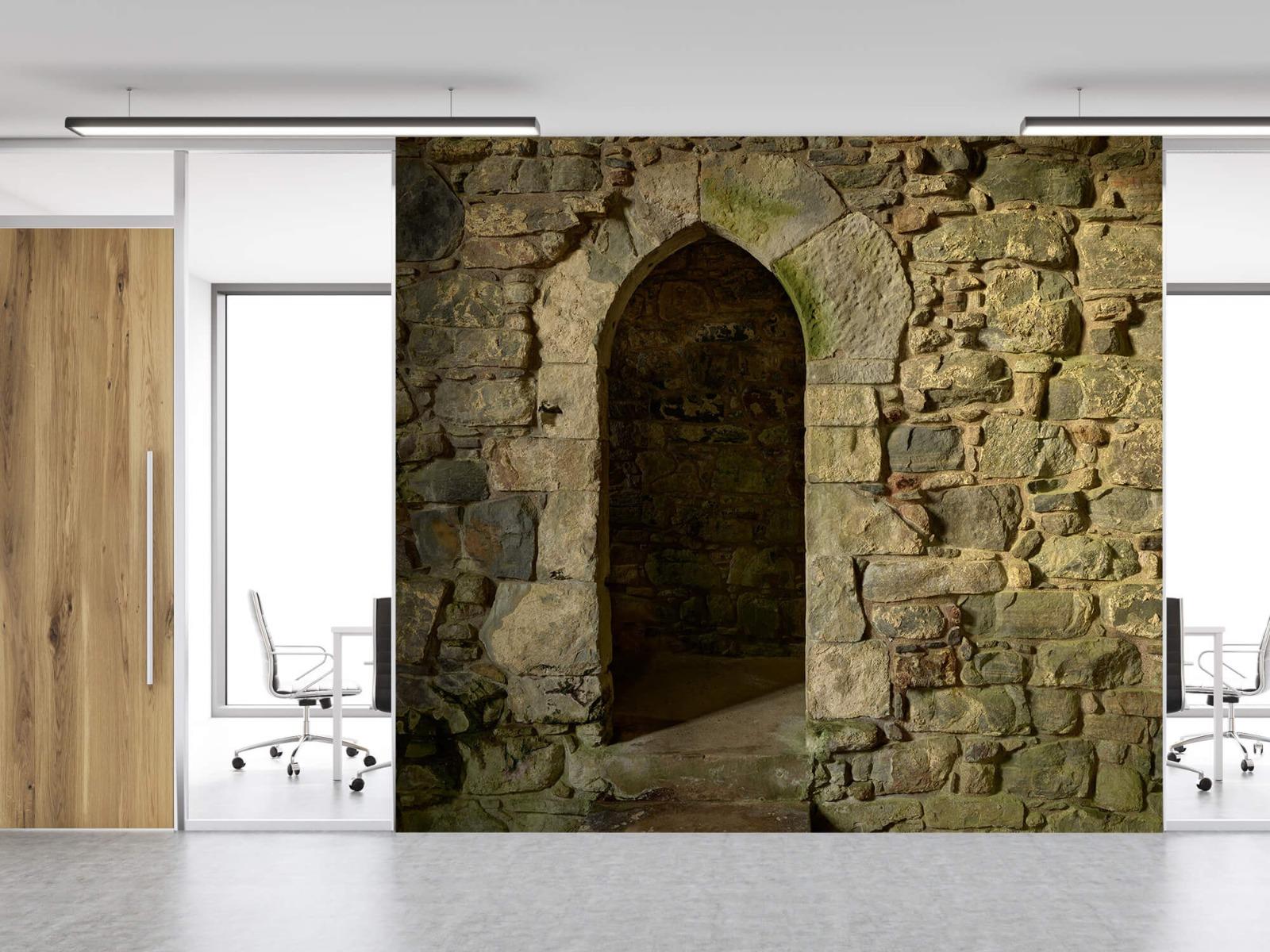Steen behang - Oude muur met doorgang - Slaapkamer 12