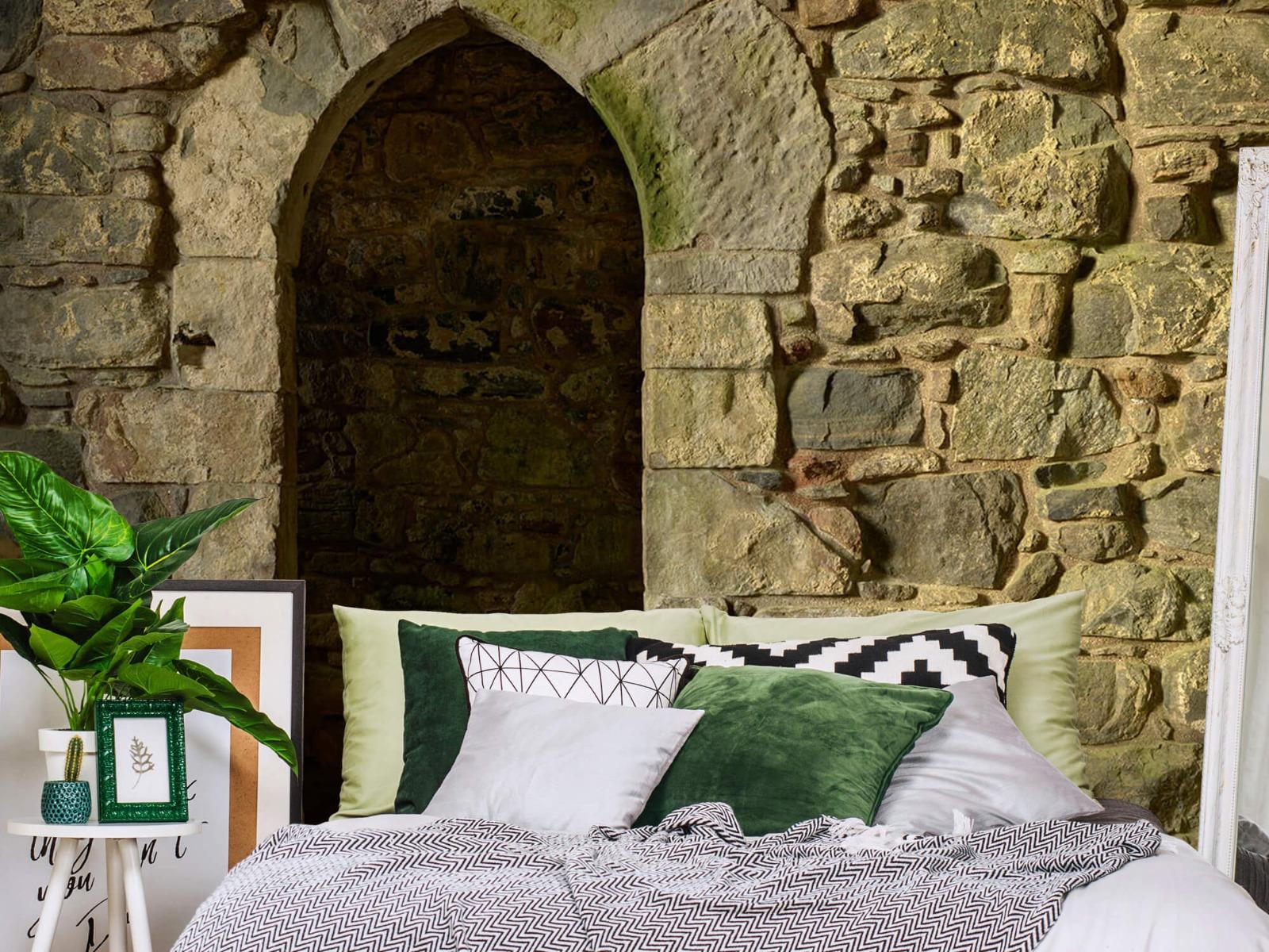 Steen behang - Oude muur met doorgang - Slaapkamer 13
