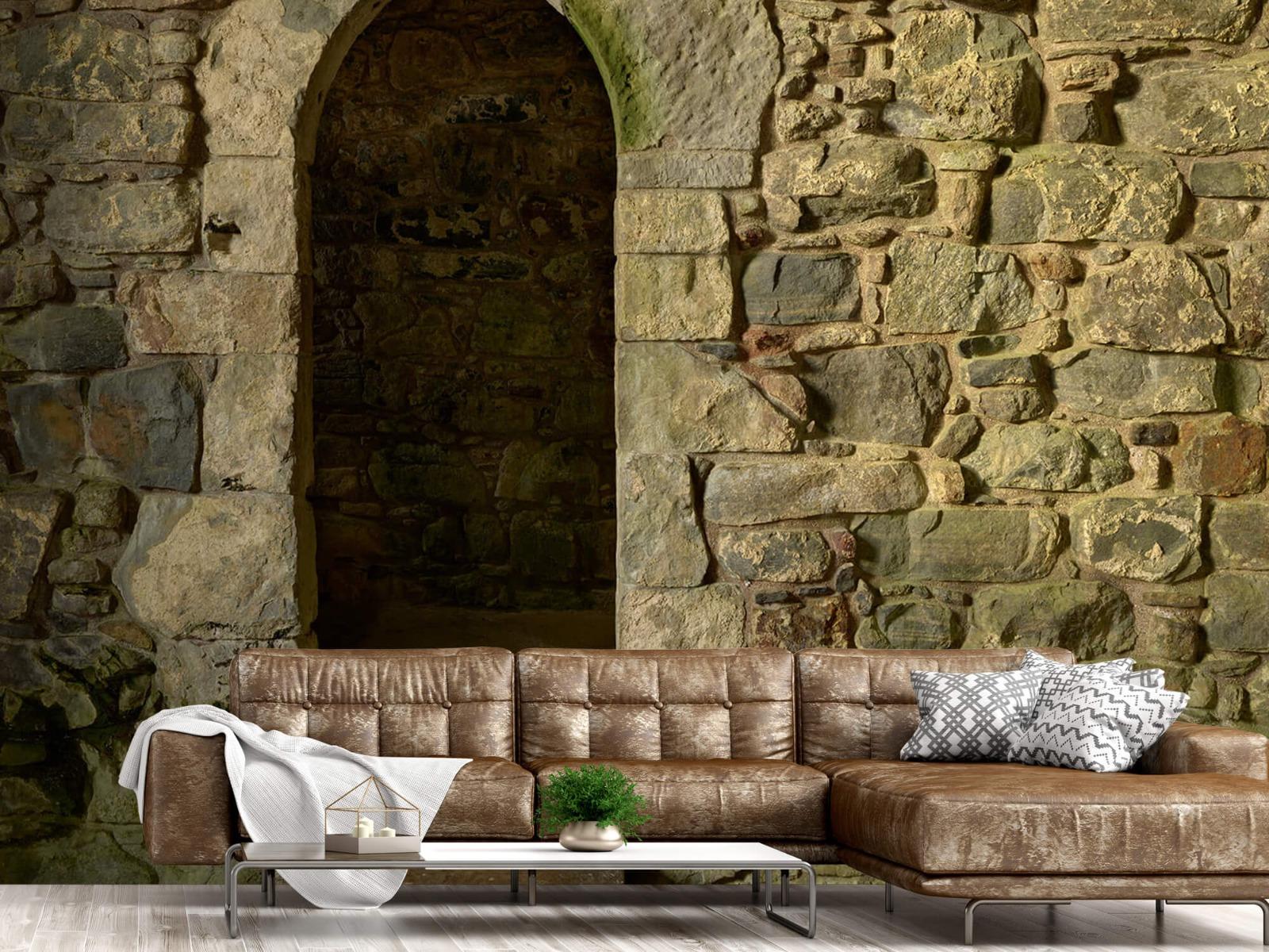 Steen behang - Oude muur met doorgang - Slaapkamer 14