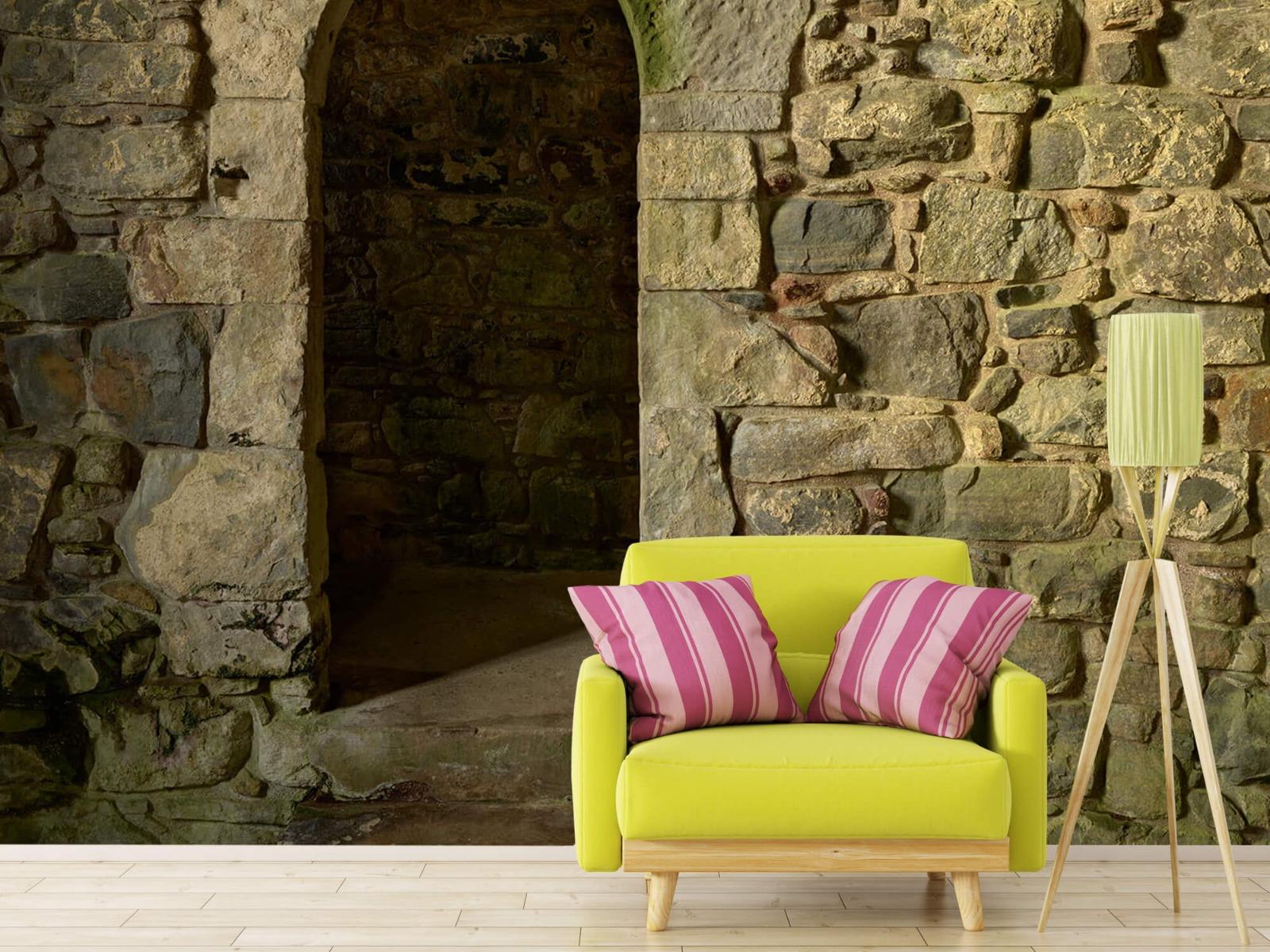 Steen behang - Oude muur met doorgang - Slaapkamer 17