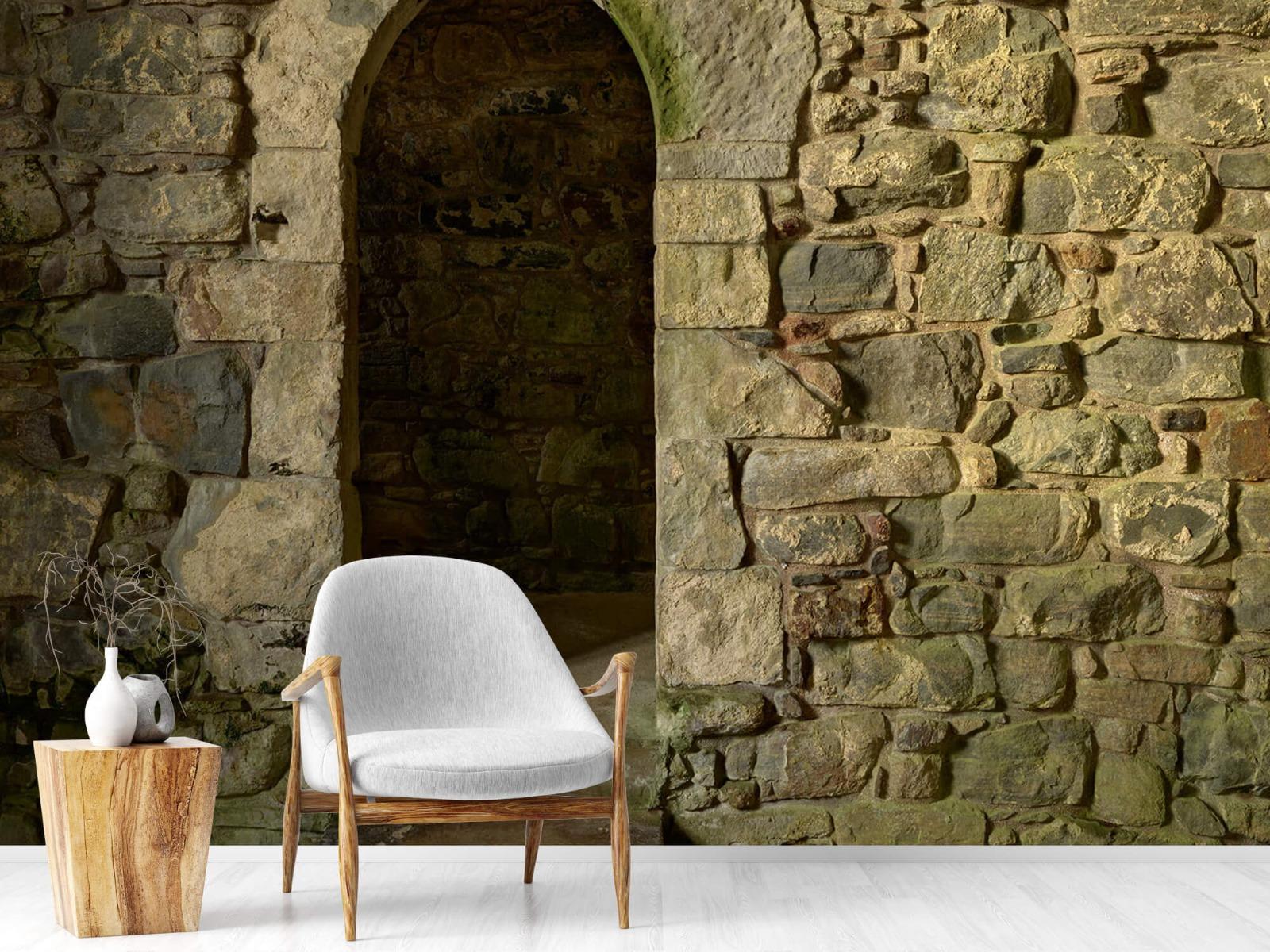 Steen behang - Oude muur met doorgang - Slaapkamer 18