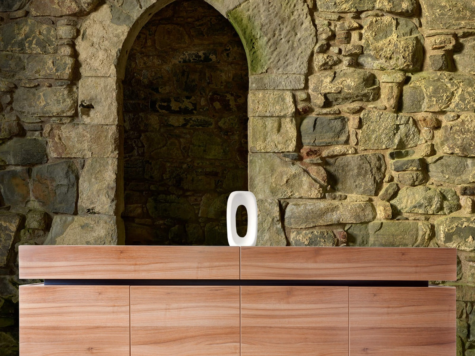 Steen behang - Oude muur met doorgang - Slaapkamer 20