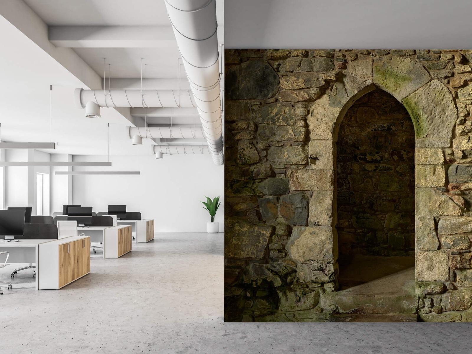 Steen behang - Oude muur met doorgang - Slaapkamer 21