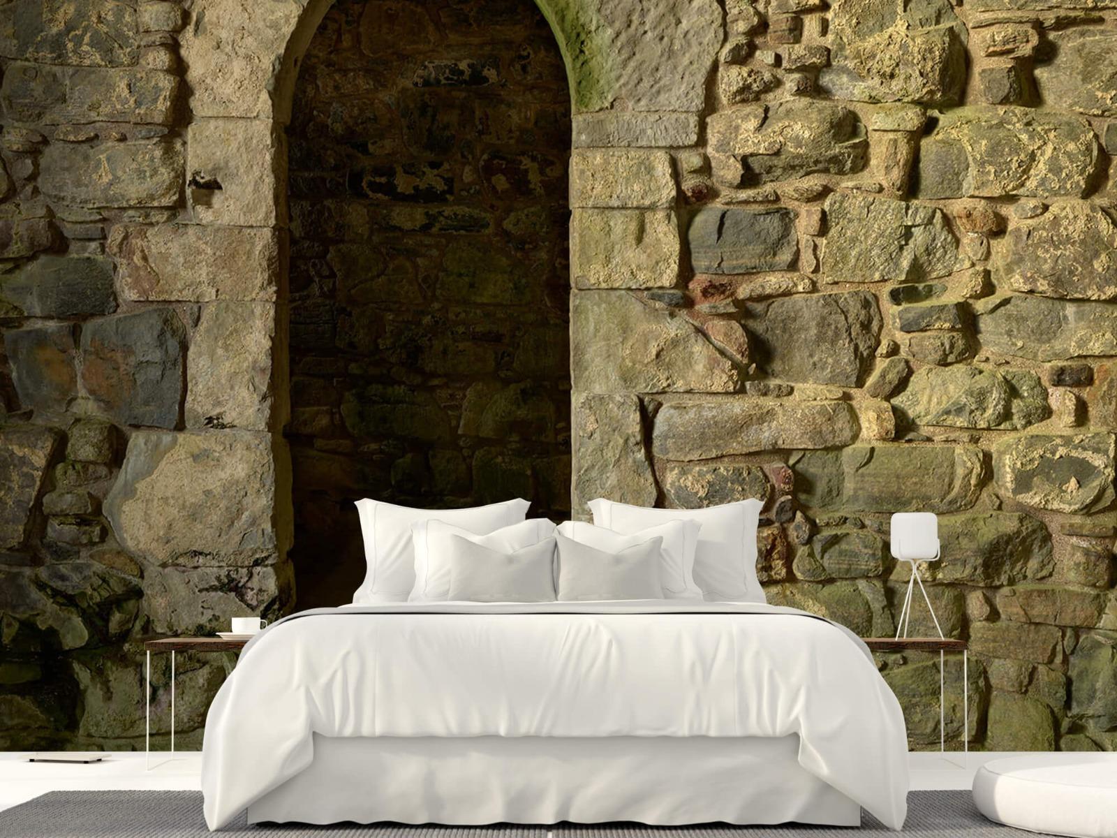 Steen behang - Oude muur met doorgang - Slaapkamer 23