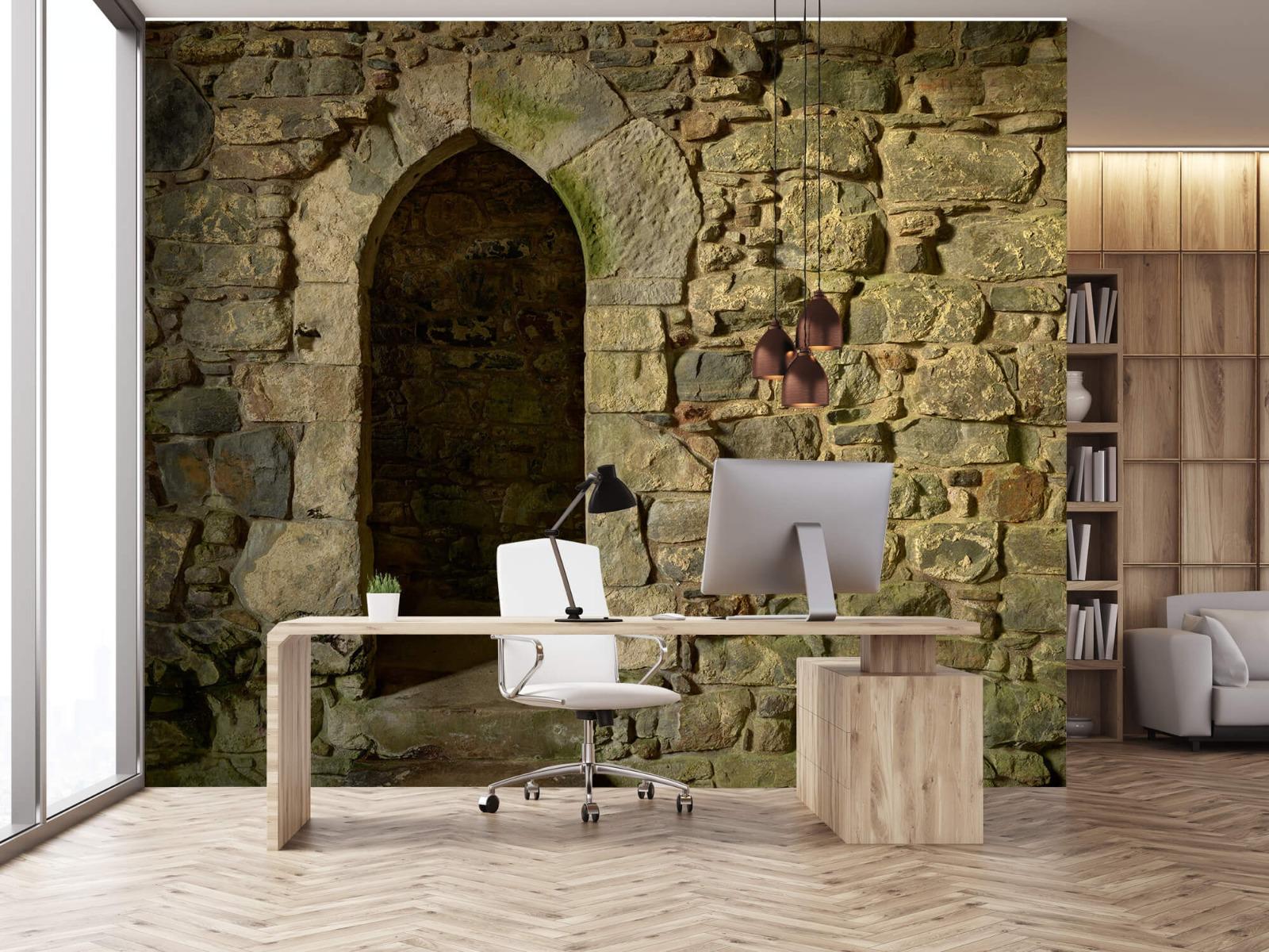 Steen behang - Oude muur met doorgang - Slaapkamer 24