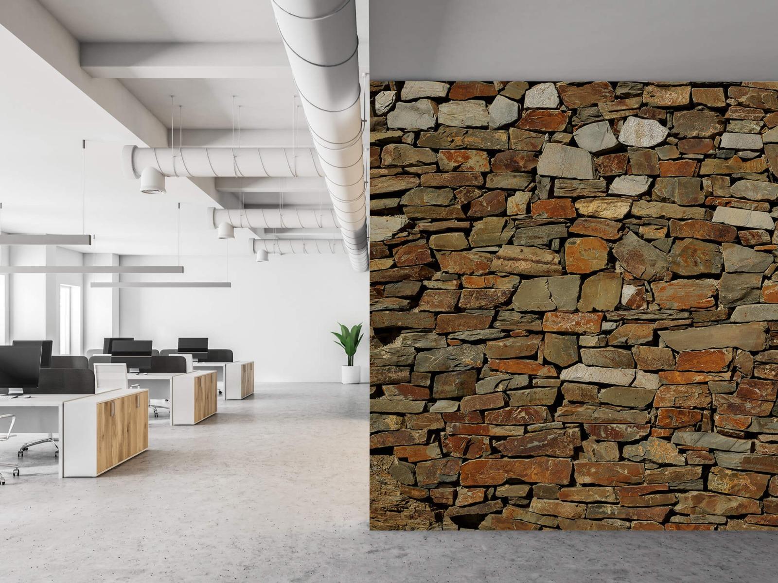 Steen behang - Muur van ongelijke stenen - Slaapkamer 21