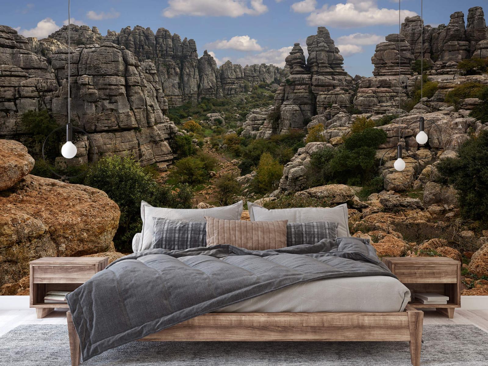 Bergen - Rotsen met blauwe lucht - Slaapkamer 2
