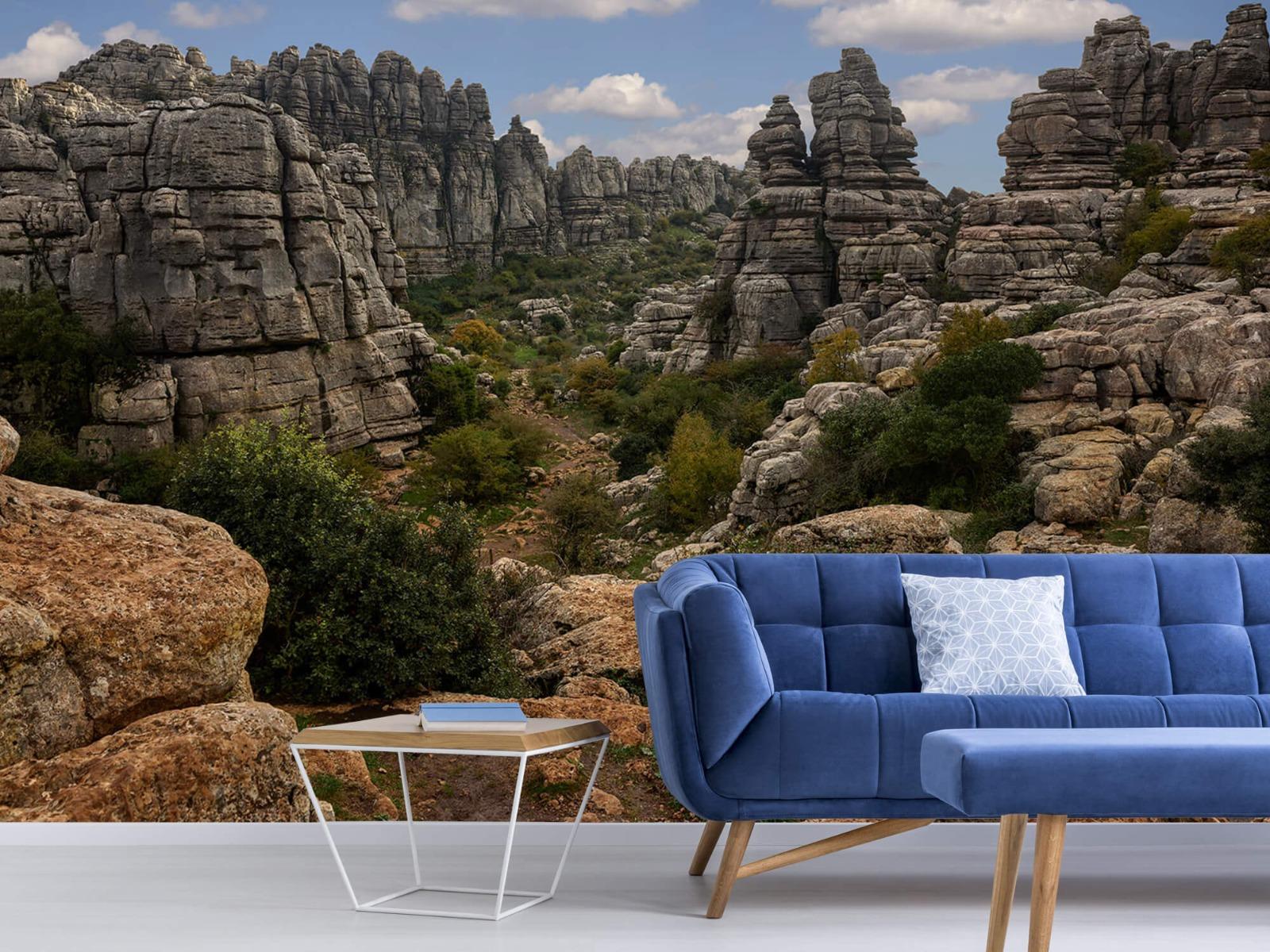 Bergen - Rotsen met blauwe lucht - Slaapkamer 5