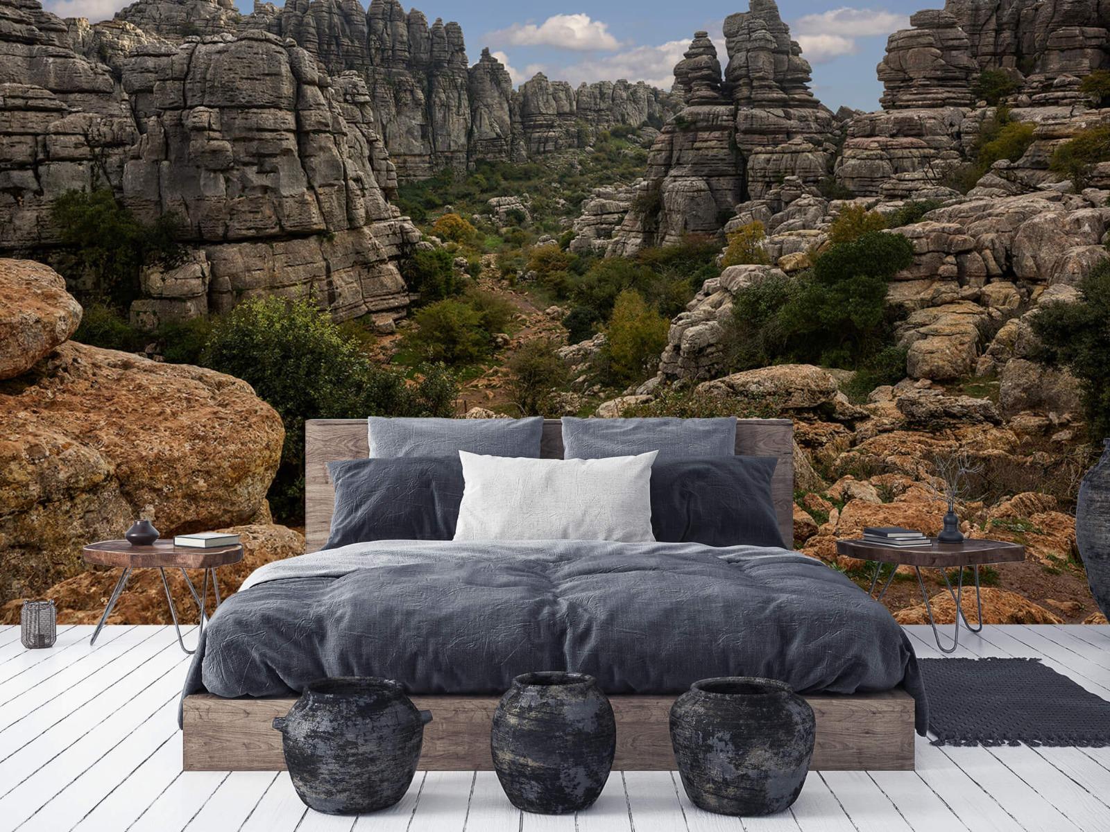 Bergen - Rotsen met blauwe lucht - Slaapkamer 6
