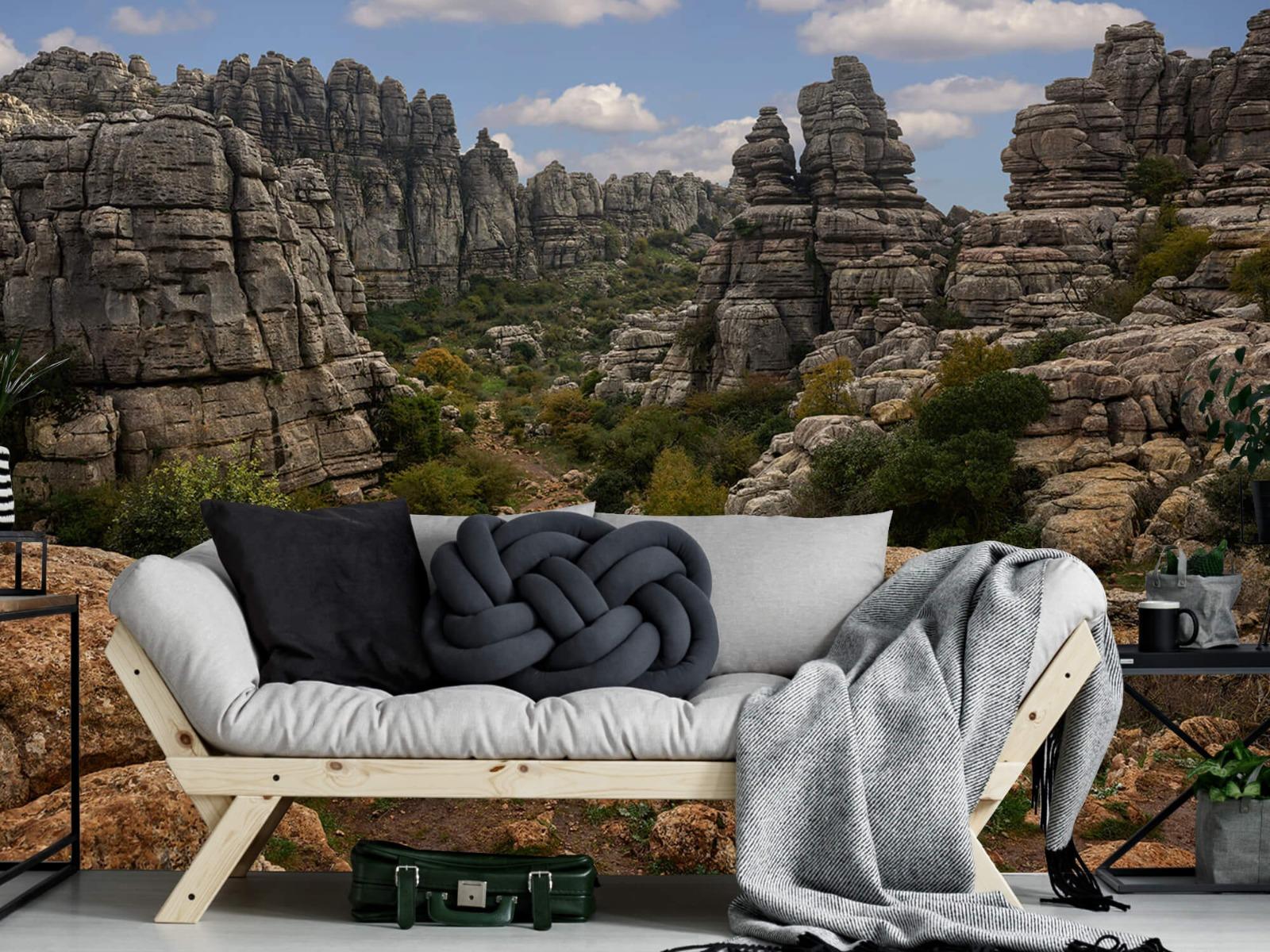 Bergen - Rotsen met blauwe lucht - Slaapkamer 7