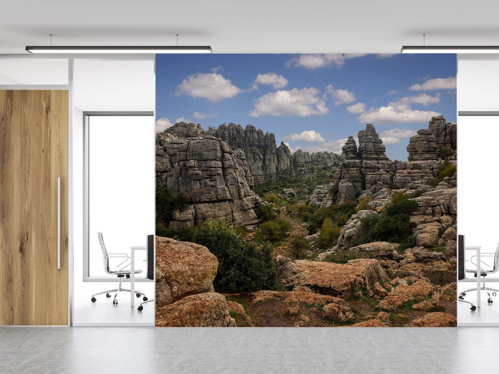 Bergen - Rotsen met blauwe lucht - Slaapkamer 12