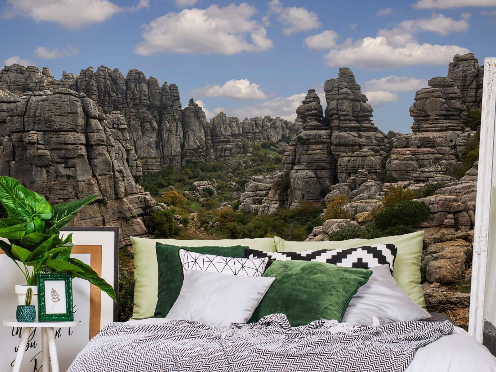 Bergen - Rotsen met blauwe lucht - Slaapkamer 13